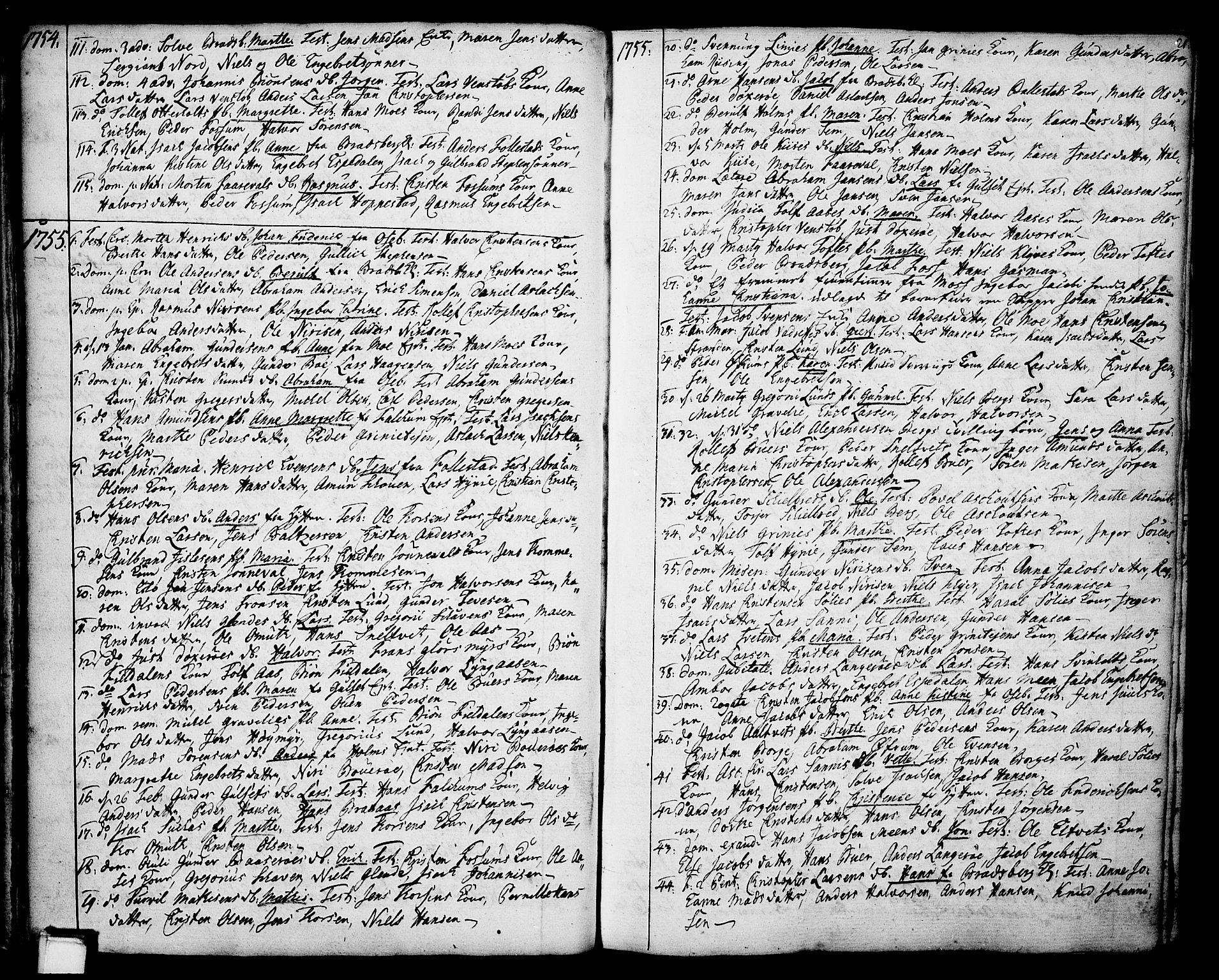 SAKO, Gjerpen kirkebøker, F/Fa/L0002: Ministerialbok nr. 2, 1747-1795, s. 21