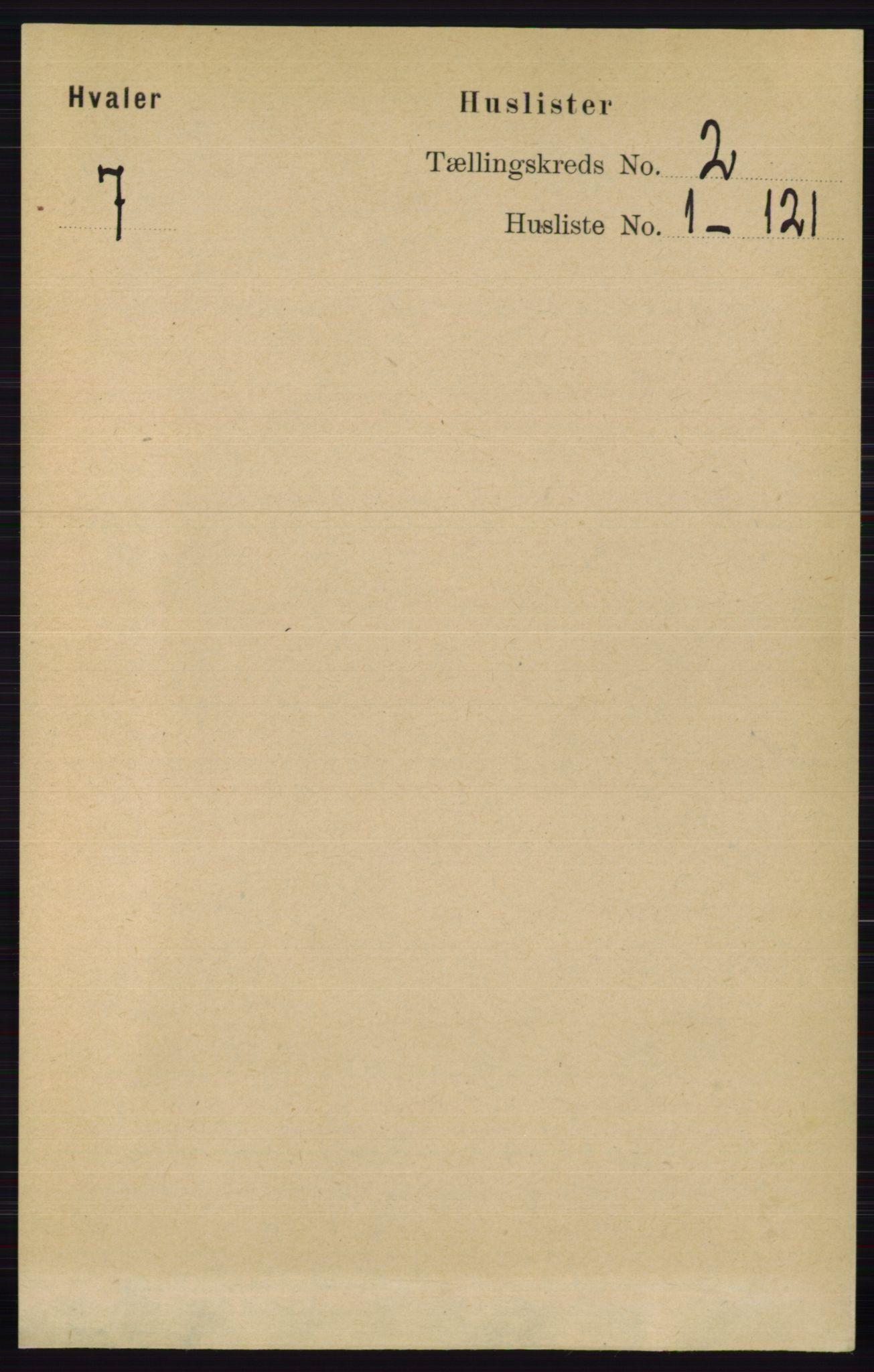 RA, Folketelling 1891 for 0111 Hvaler herred, 1891, s. 879