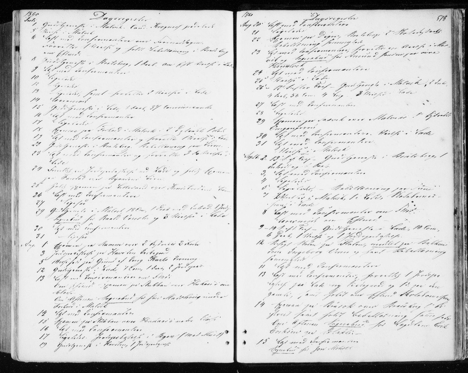 SAT, Ministerialprotokoller, klokkerbøker og fødselsregistre - Sør-Trøndelag, 606/L0292: Ministerialbok nr. 606A07, 1856-1865, s. 578