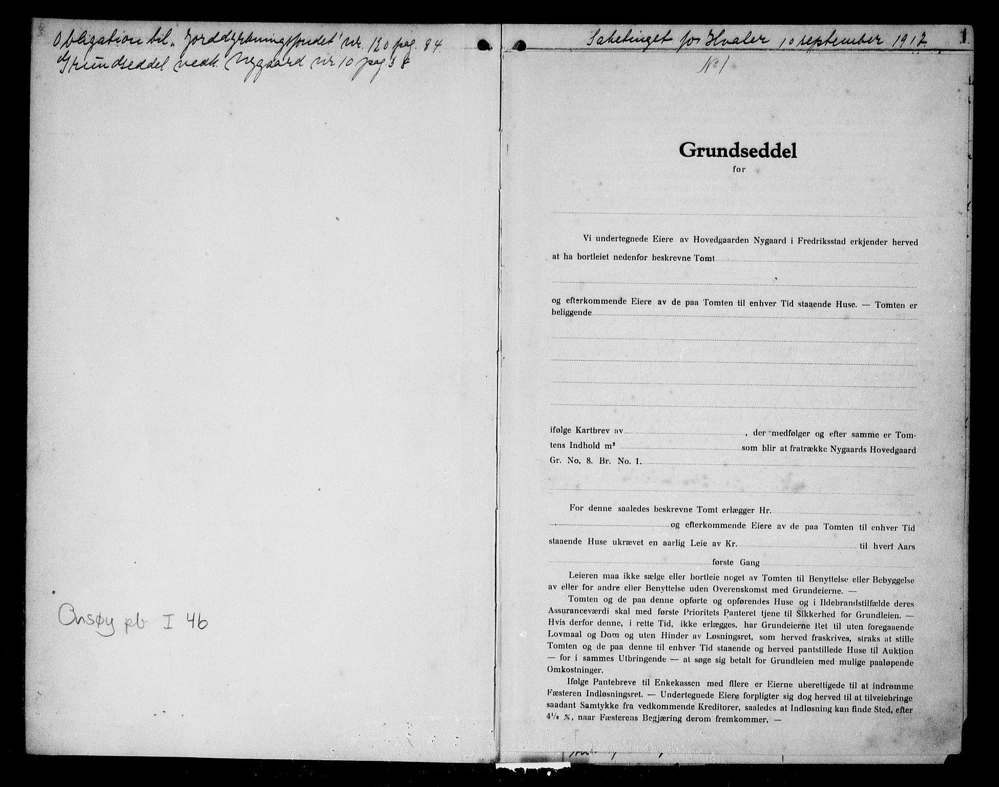 SAO, Onsøy sorenskriveri, G/Ga/Gaa/L0046: Pantebok nr. I 46, 1917-1918