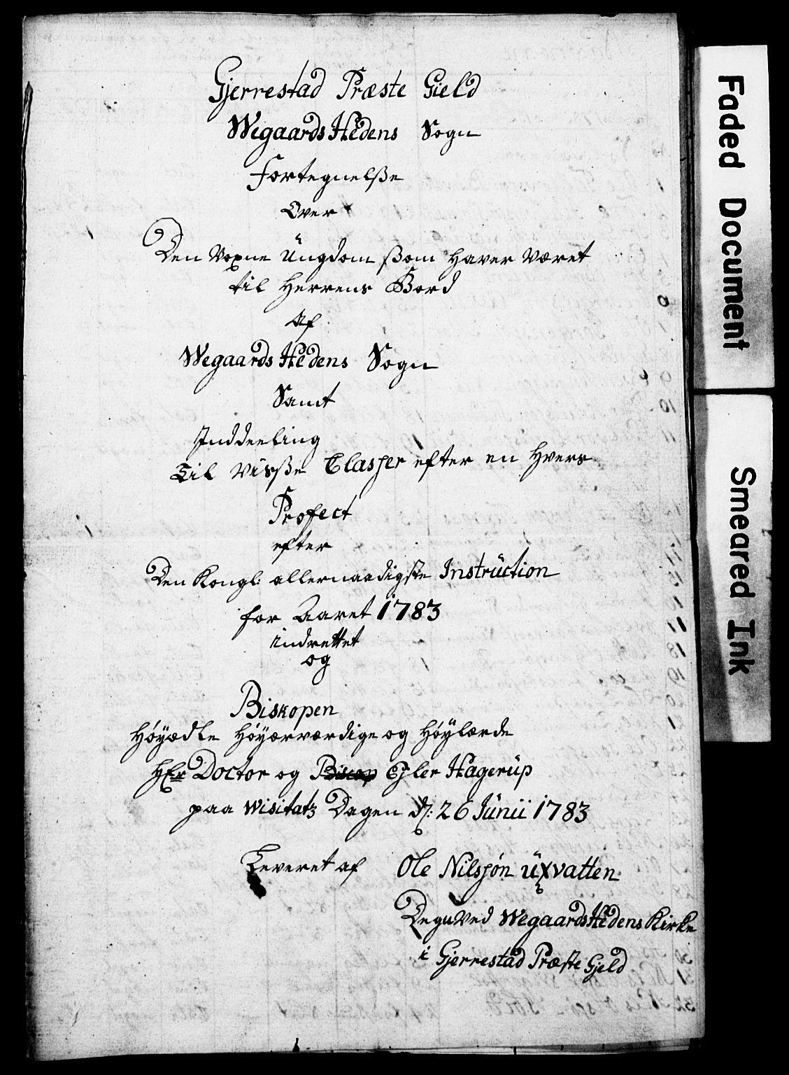 AAKS, Vevstad, Samling 1*, 1783