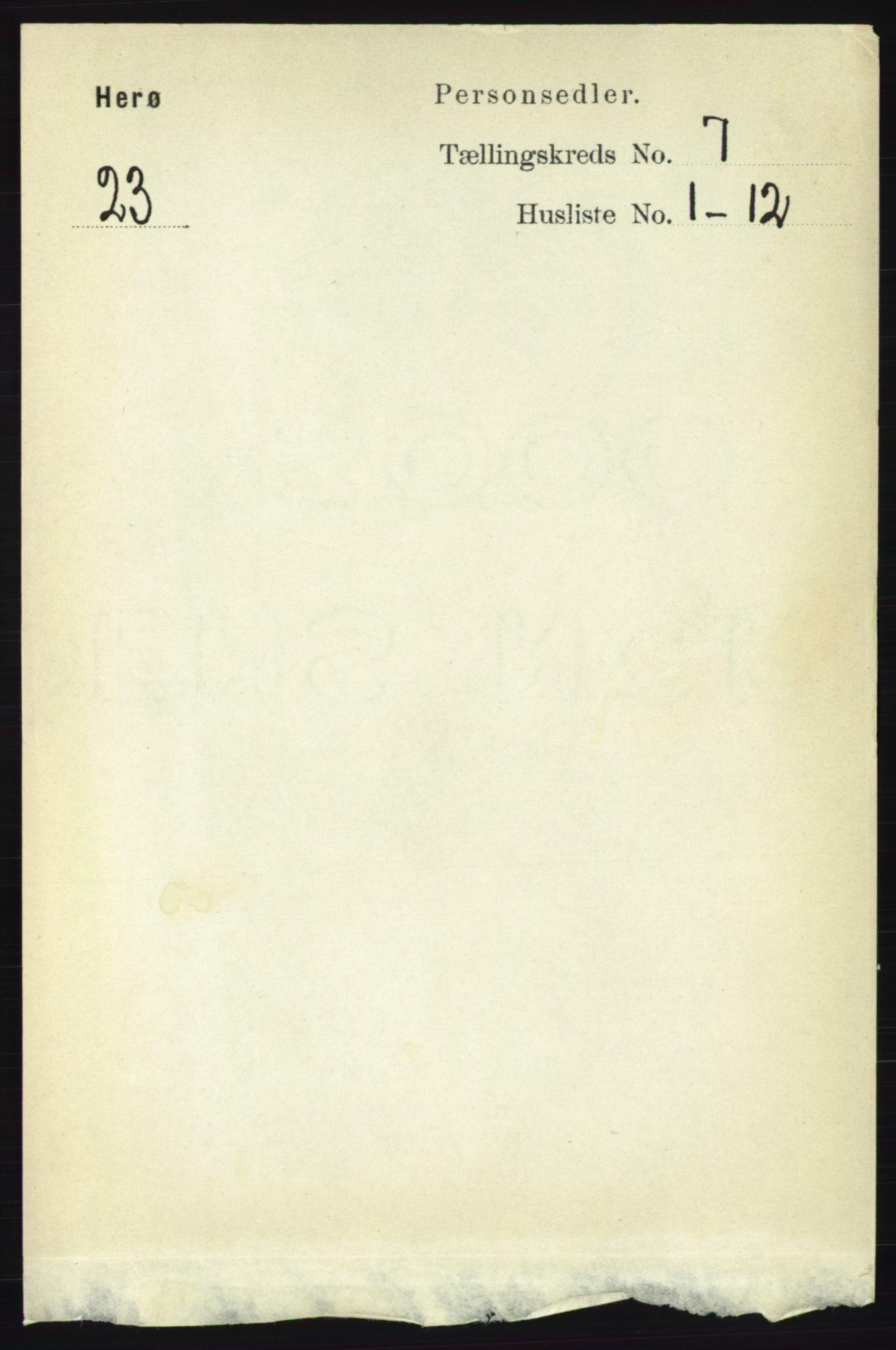 RA, Folketelling 1891 for 1818 Herøy herred, 1891, s. 2236