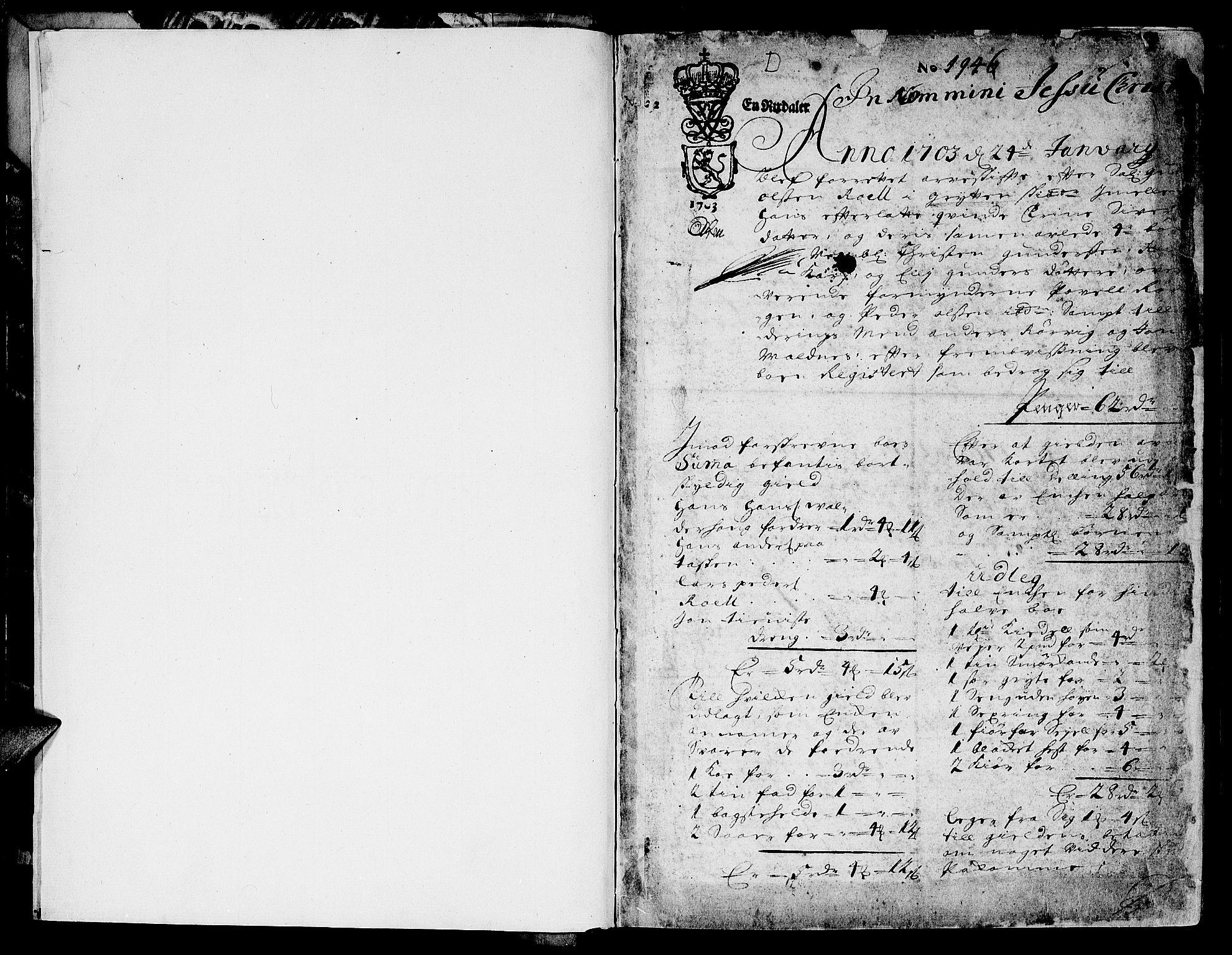 SAT, Sunnmøre sorenskriveri, 3/3A/L0002: Skifteprotokoll 02A, 1703-1707, s. 0b-1a