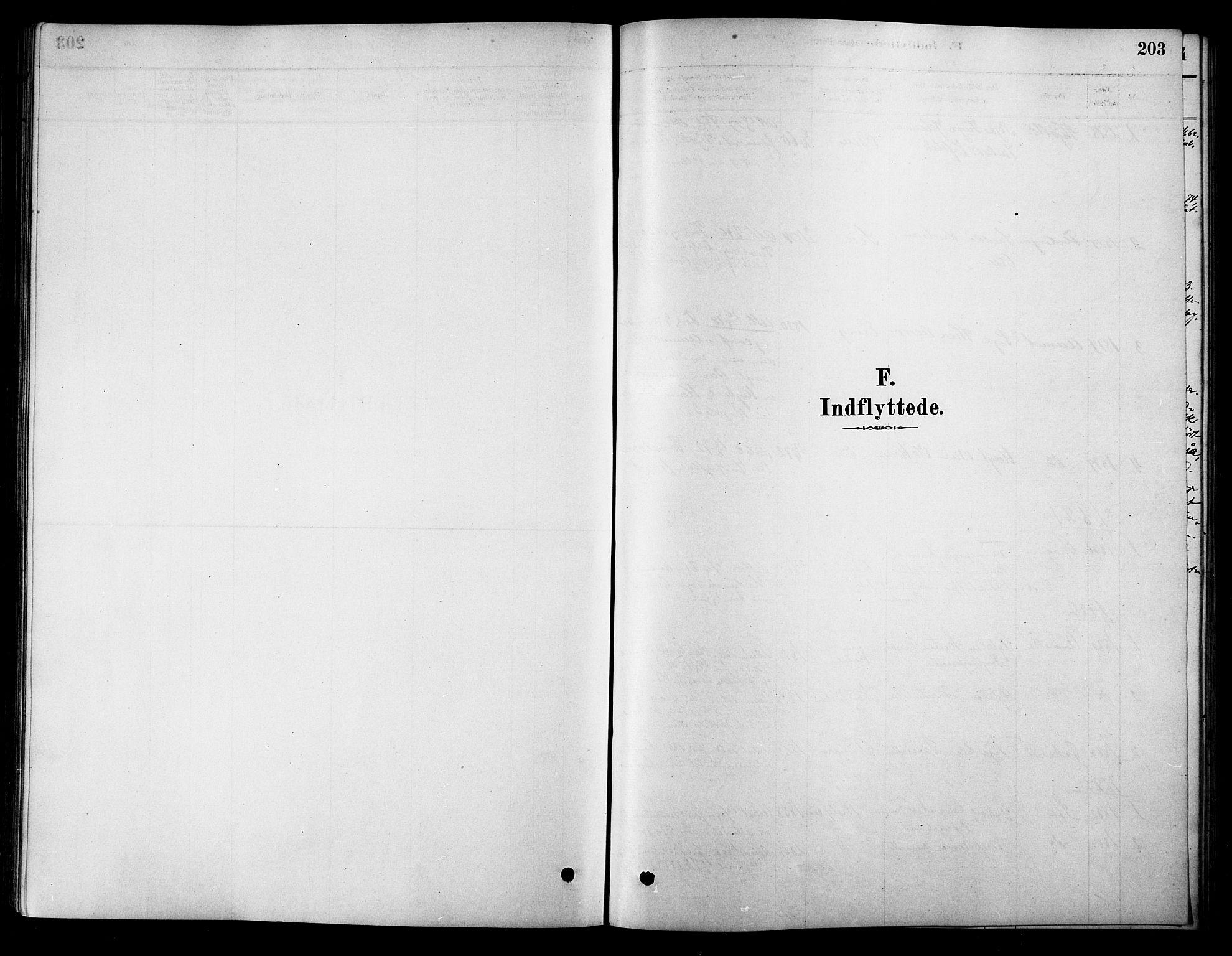 SAT, Ministerialprotokoller, klokkerbøker og fødselsregistre - Sør-Trøndelag, 658/L0722: Ministerialbok nr. 658A01, 1879-1896, s. 203