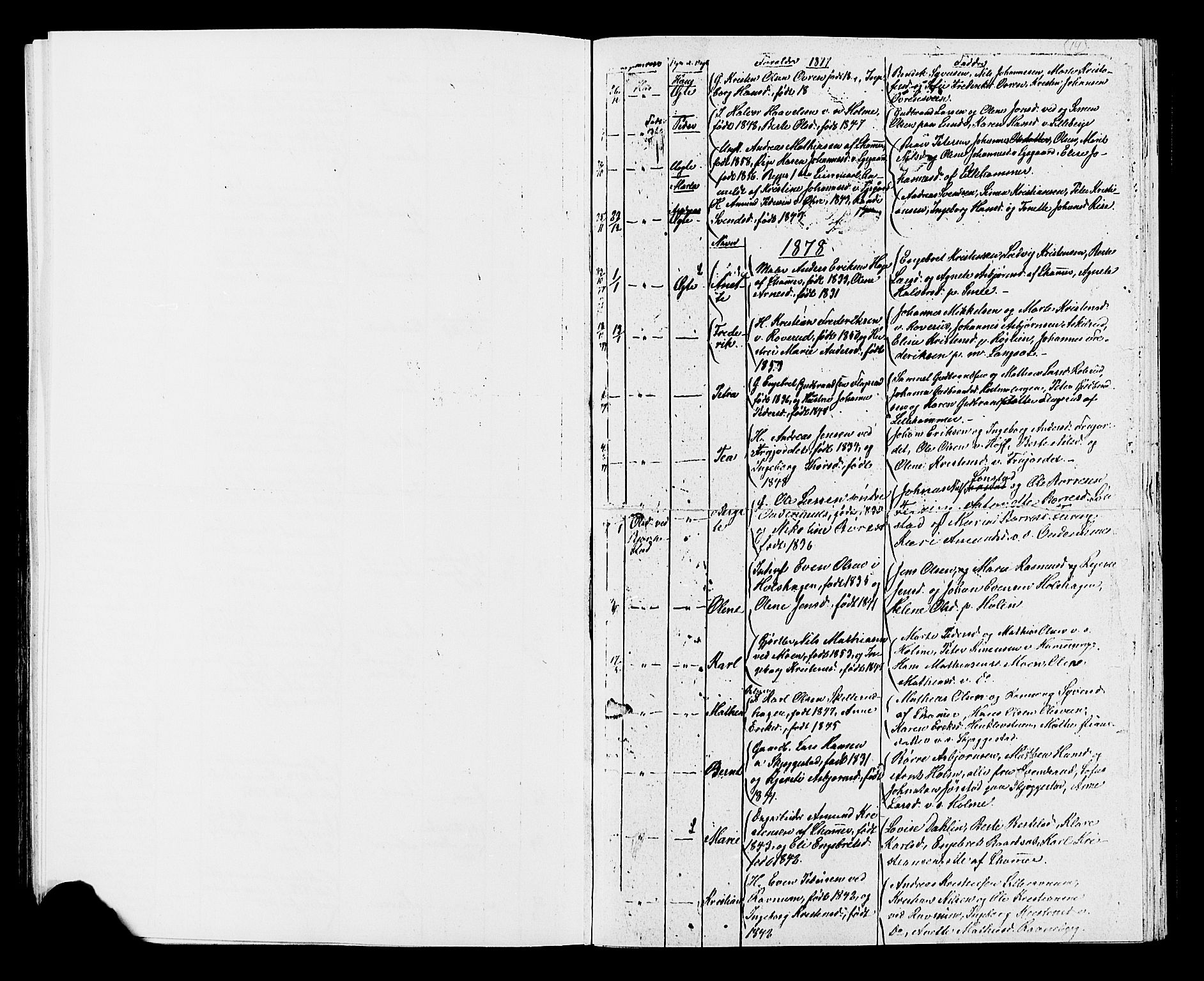 SAH, Fåberg prestekontor, Klokkerbok nr. 7, 1856-1891, s. 14