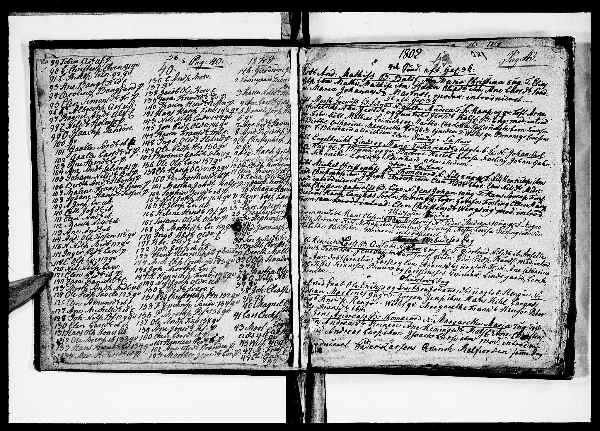 SATØ, Tromsø sokneprestkontor/stiftsprosti/domprosti, G/Ga/L0005kirke: Ministerialbok nr. 5, 1796-1808, s. 42-43