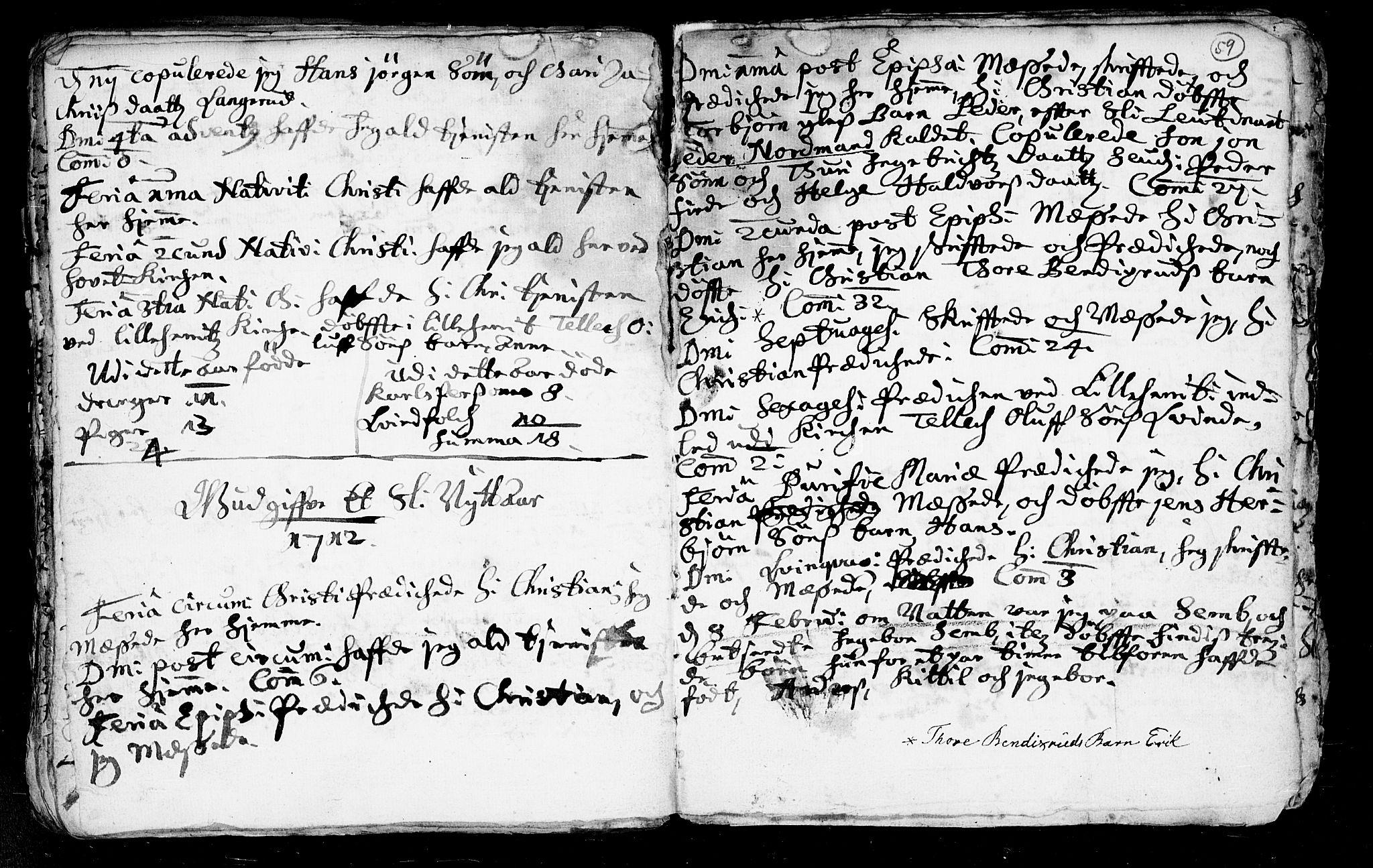 SAKO, Heddal kirkebøker, F/Fa/L0002: Ministerialbok nr. I 2, 1699-1722, s. 59