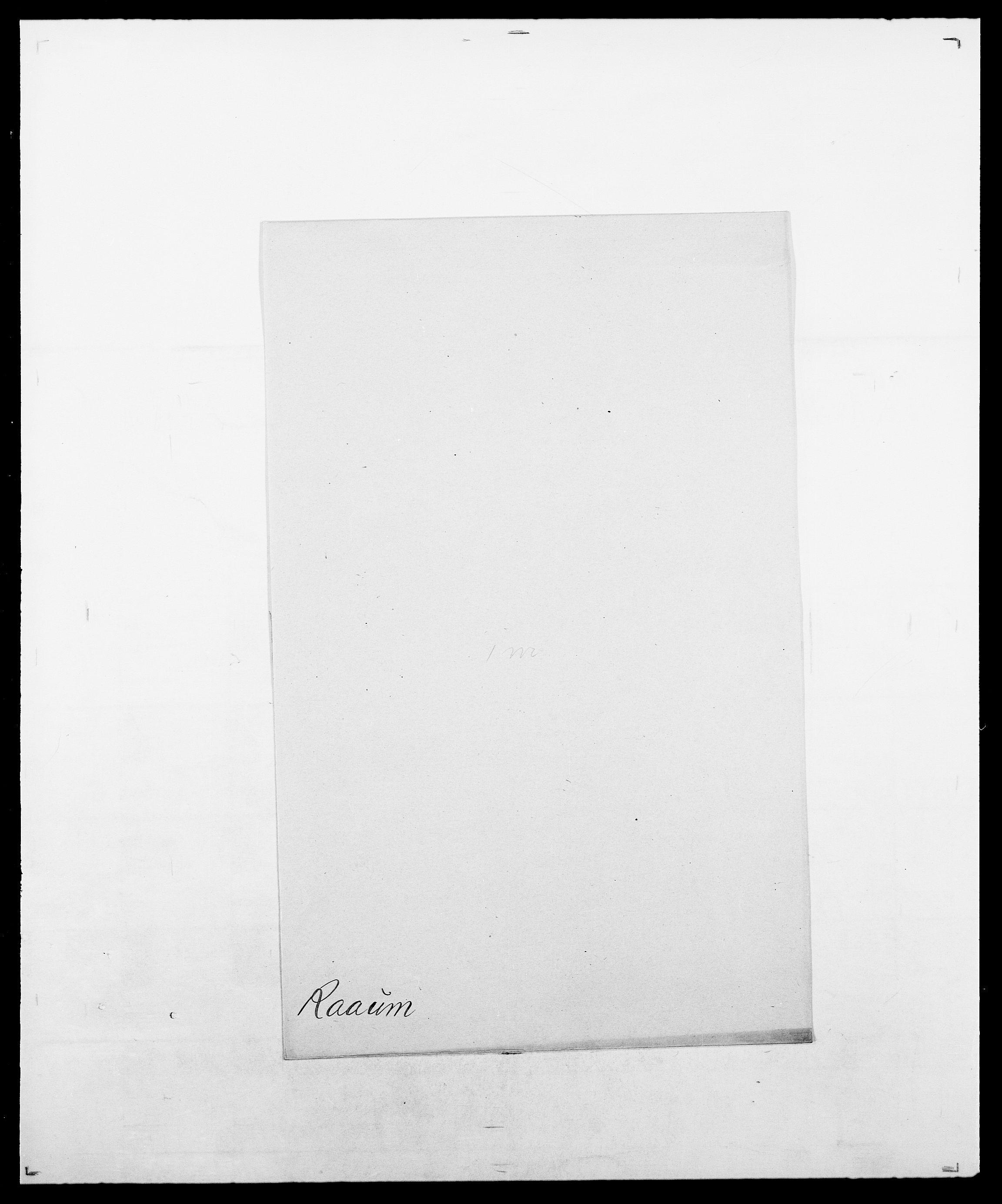 SAO, Delgobe, Charles Antoine - samling, D/Da/L0031: de Place - Raaum, s. 539