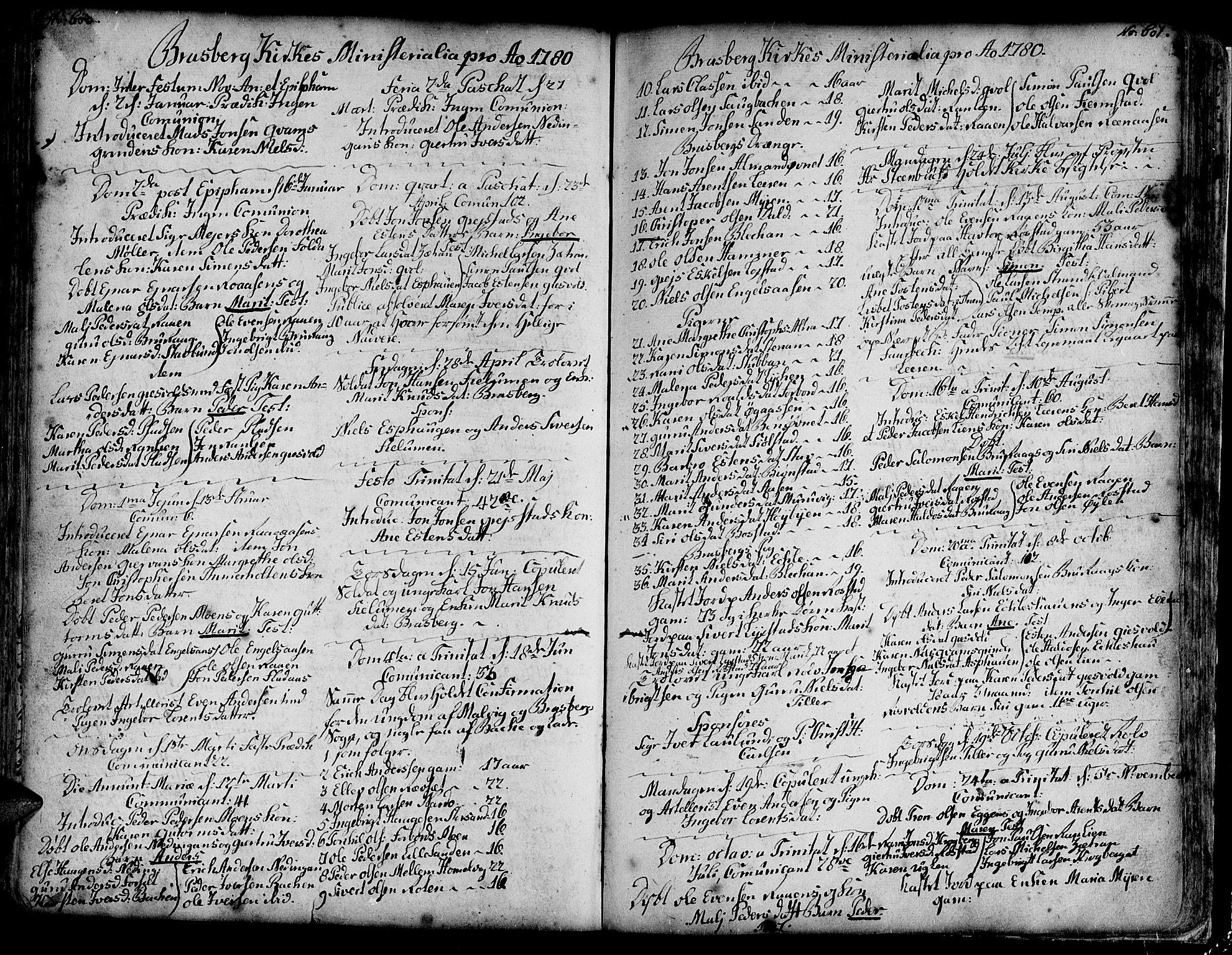 SAT, Ministerialprotokoller, klokkerbøker og fødselsregistre - Sør-Trøndelag, 606/L0278: Ministerialbok nr. 606A01 /4, 1727-1780, s. 600-601