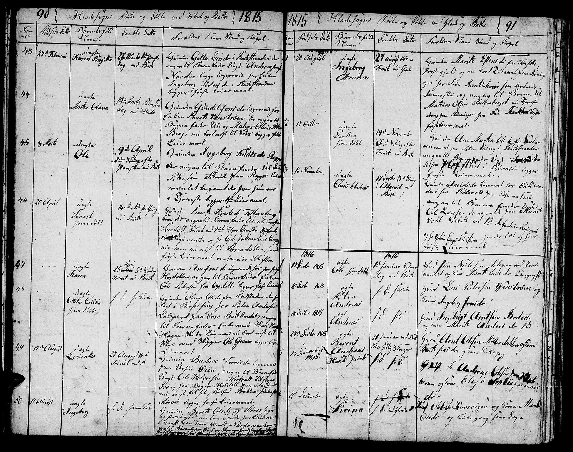SAT, Ministerialprotokoller, klokkerbøker og fødselsregistre - Sør-Trøndelag, 606/L0306: Klokkerbok nr. 606C02, 1797-1829, s. 90-91
