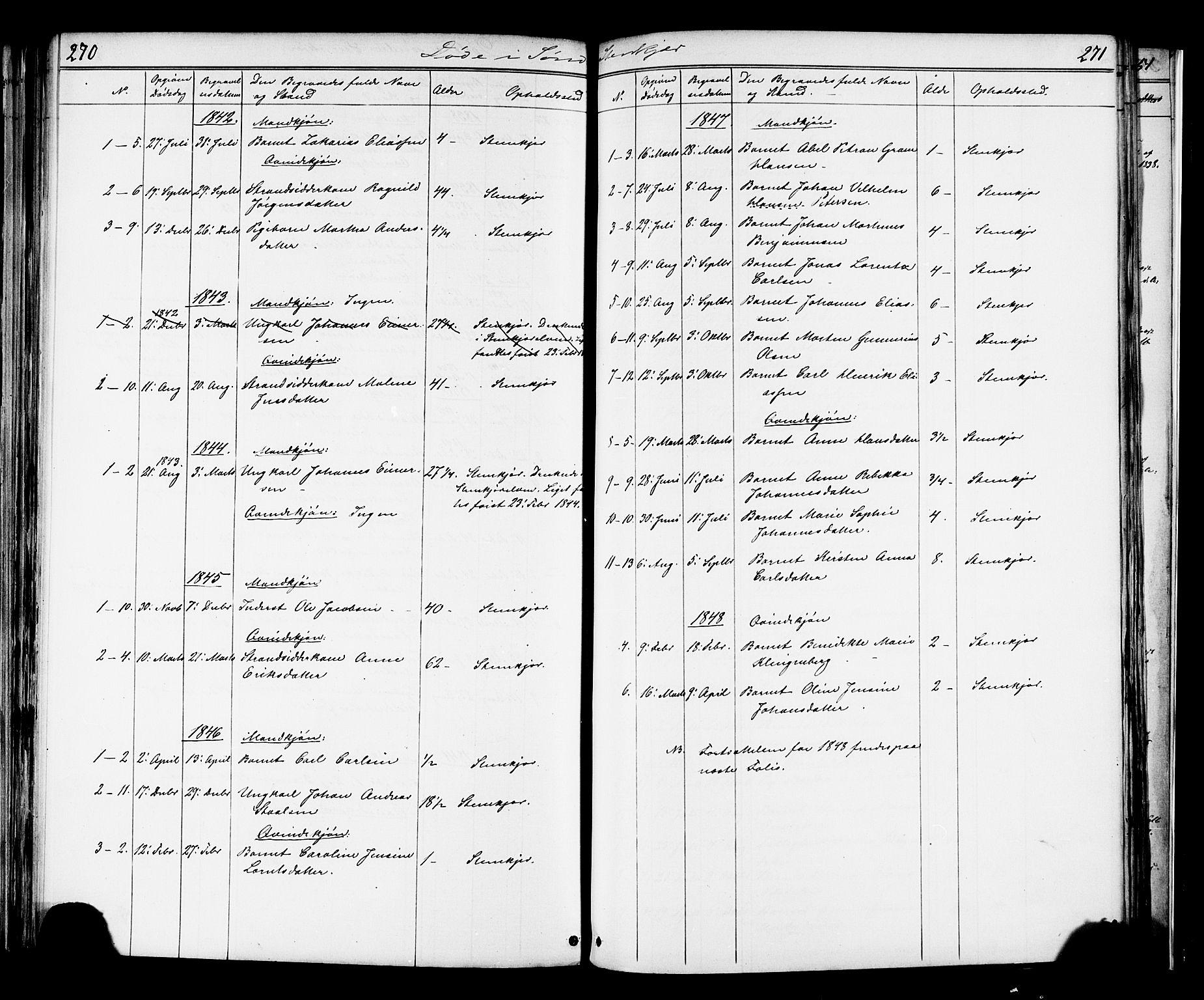 SAT, Ministerialprotokoller, klokkerbøker og fødselsregistre - Nord-Trøndelag, 739/L0367: Ministerialbok nr. 739A01 /1, 1838-1868, s. 270-271