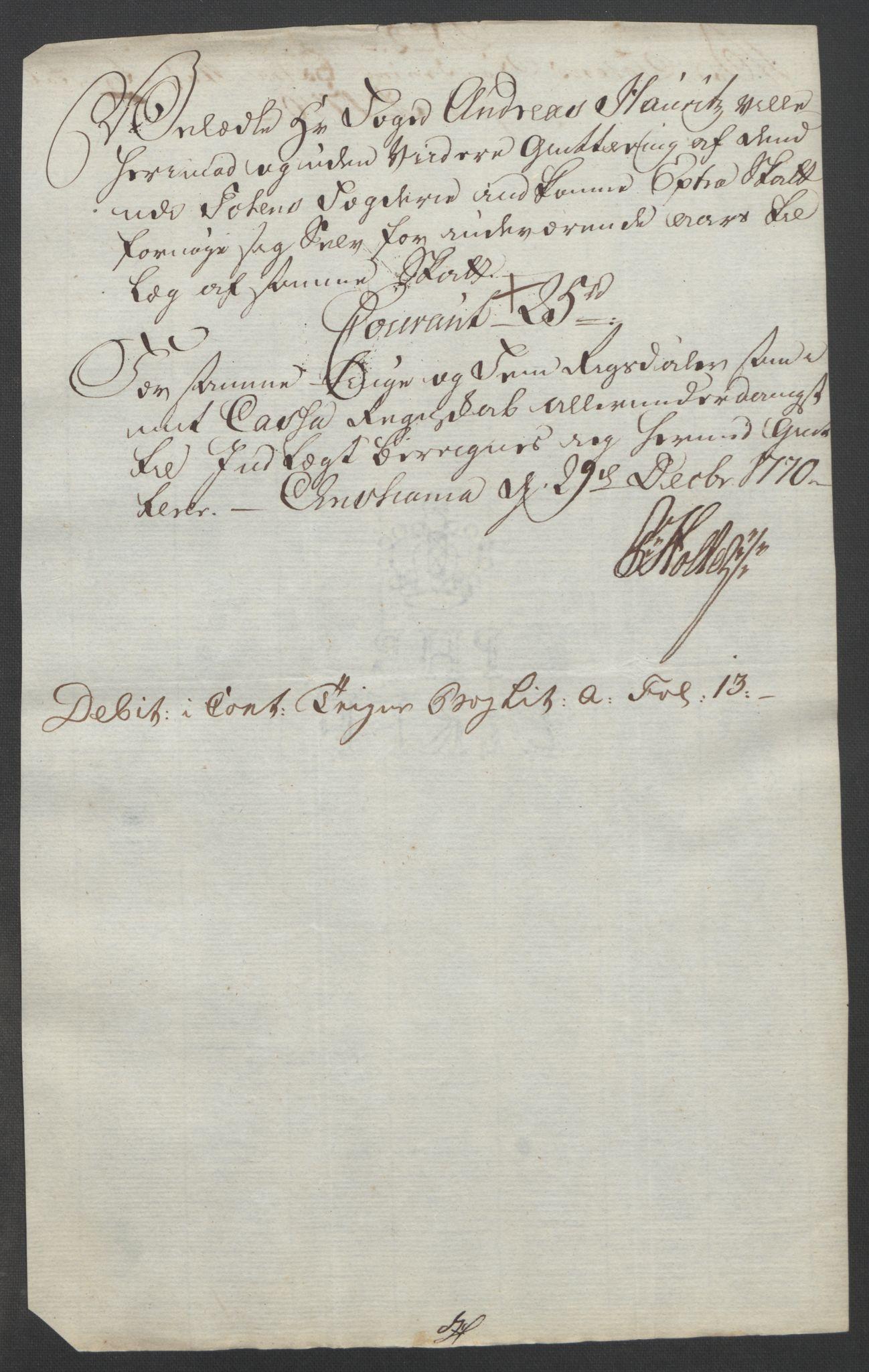 RA, Rentekammeret inntil 1814, Reviderte regnskaper, Fogderegnskap, R19/L1399: Fogderegnskap Toten, Hadeland og Vardal, 1762-1783, s. 215