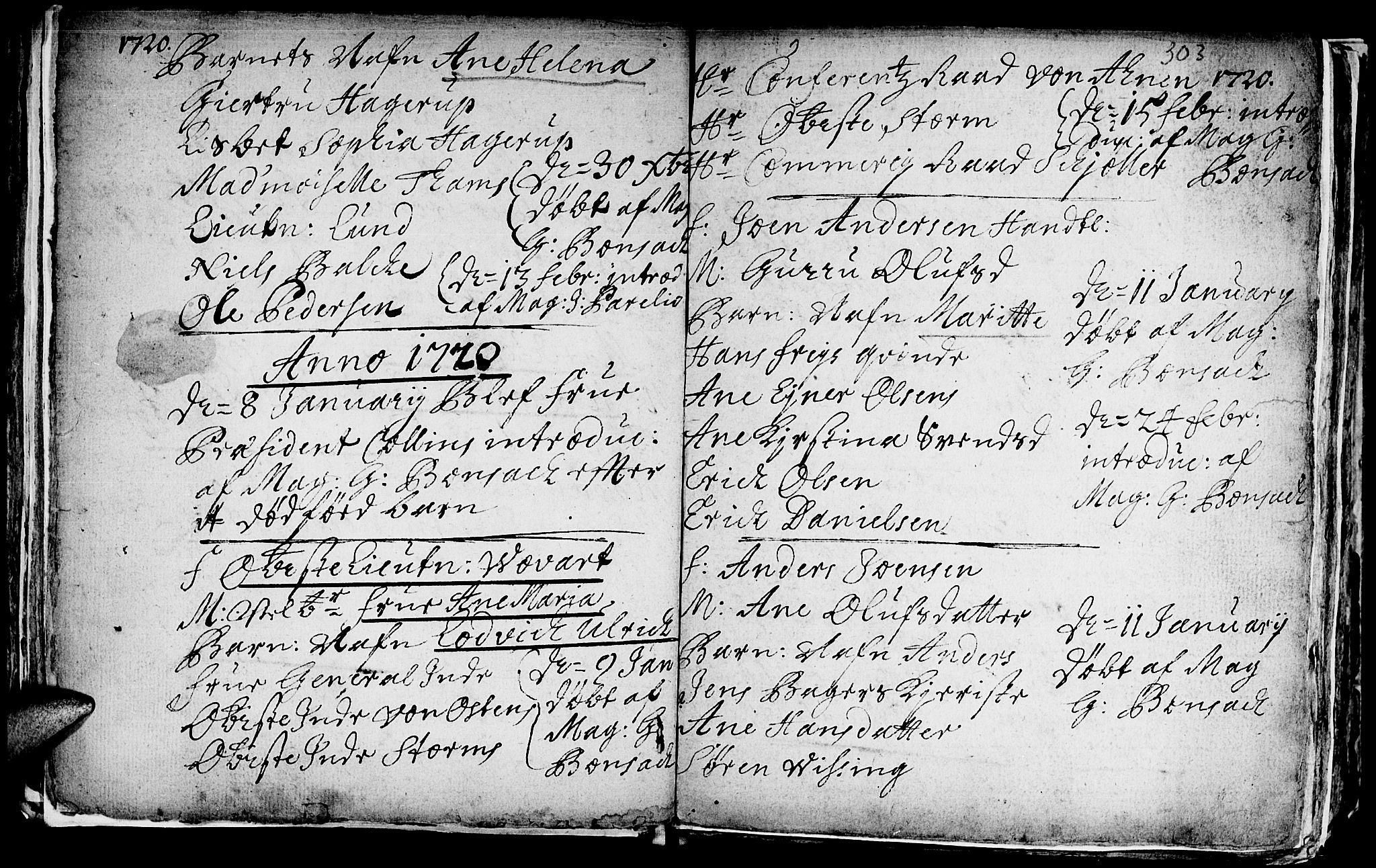 SAT, Ministerialprotokoller, klokkerbøker og fødselsregistre - Sør-Trøndelag, 601/L0035: Ministerialbok nr. 601A03, 1713-1728, s. 303