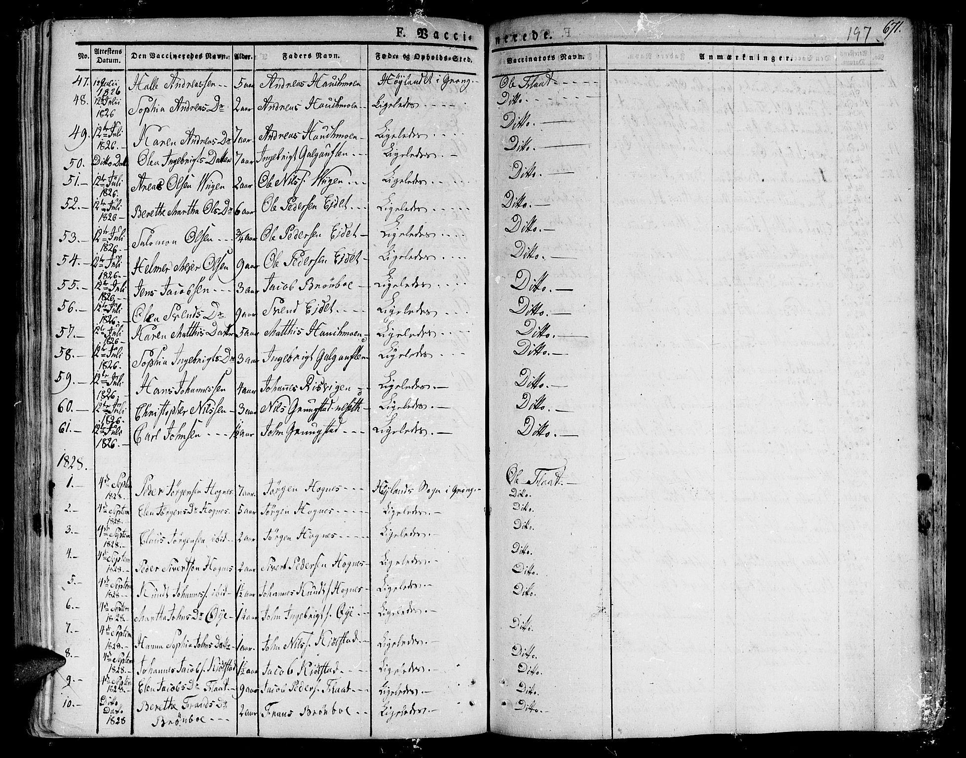SAT, Ministerialprotokoller, klokkerbøker og fødselsregistre - Nord-Trøndelag, 758/L0510: Ministerialbok nr. 758A01 /1, 1821-1841, s. 197