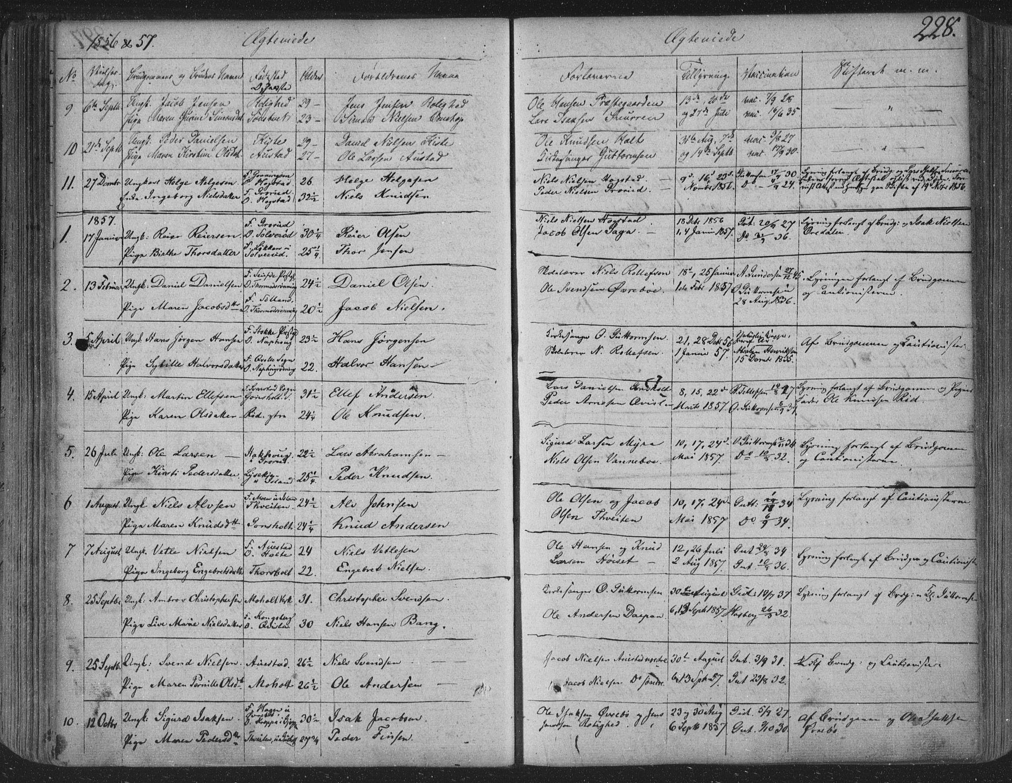 SAKO, Siljan kirkebøker, F/Fa/L0001: Ministerialbok nr. 1, 1831-1870, s. 228
