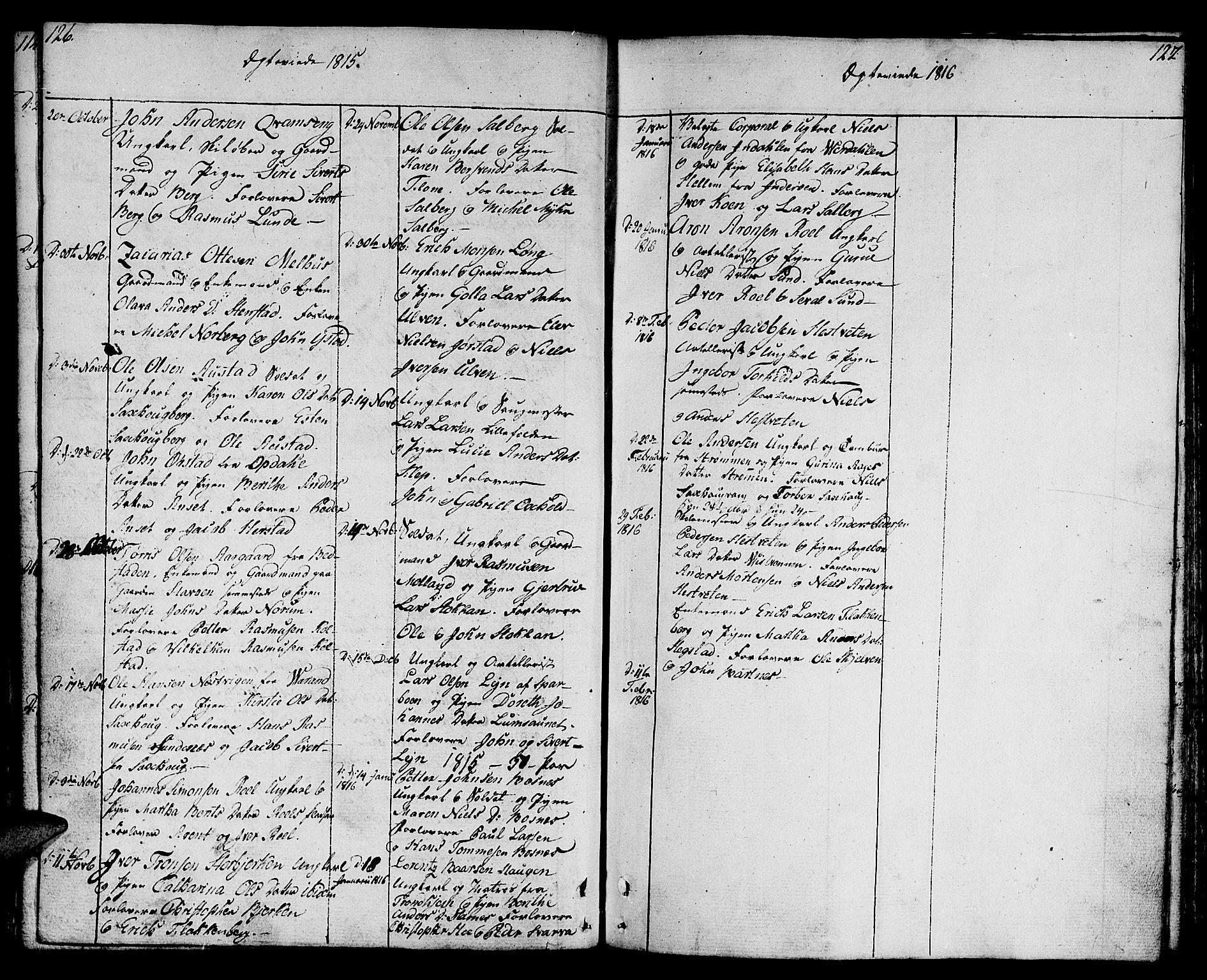 SAT, Ministerialprotokoller, klokkerbøker og fødselsregistre - Nord-Trøndelag, 730/L0274: Ministerialbok nr. 730A03, 1802-1816, s. 126-127