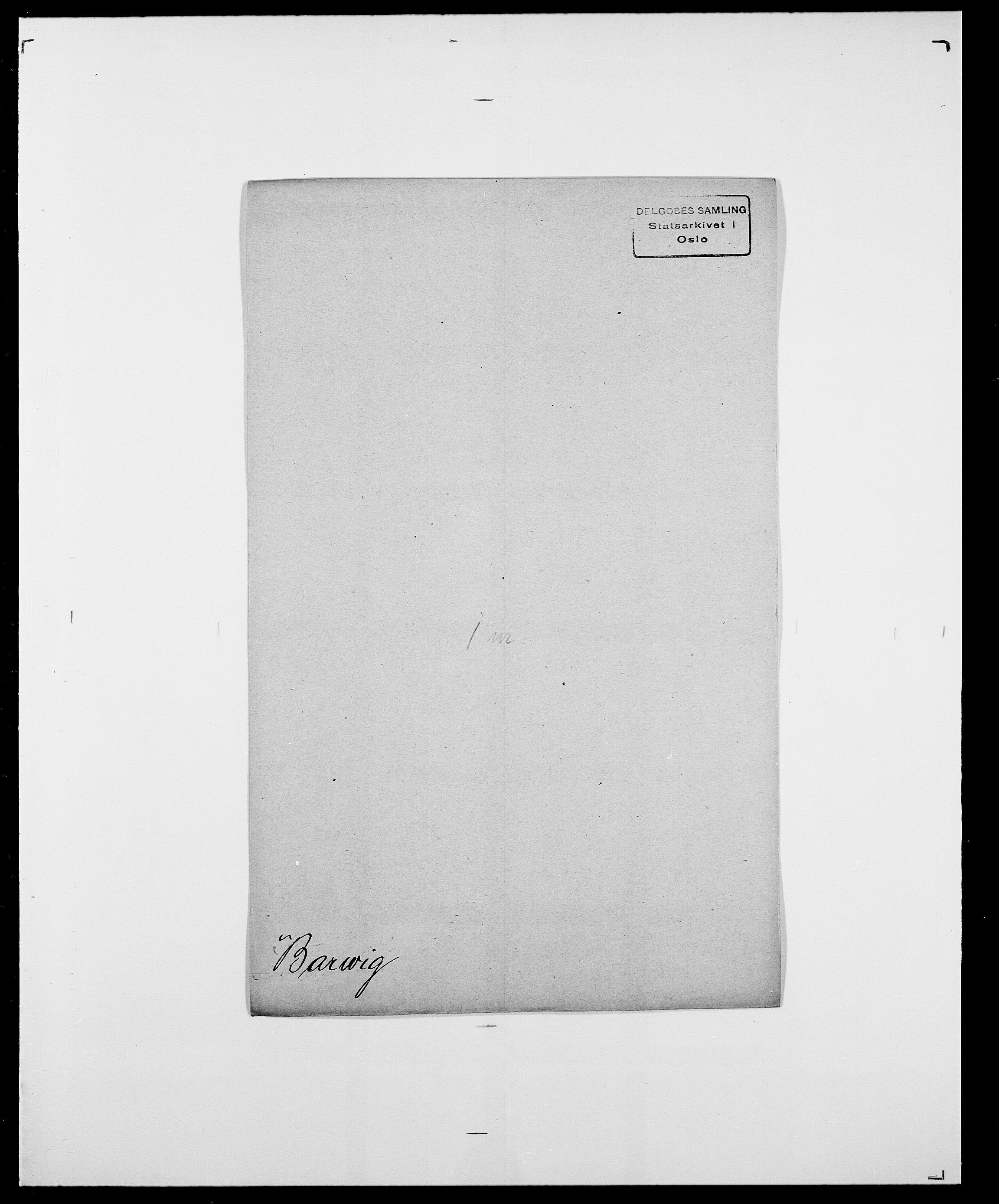 SAO, Delgobe, Charles Antoine - samling, D/Da/L0003: Barca - Bergen, s. 405