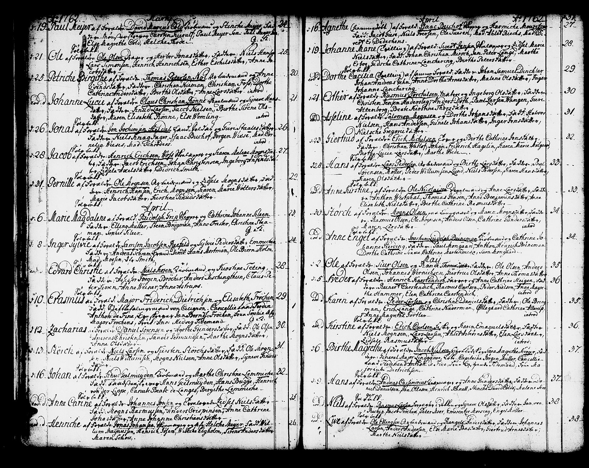 SAB, Domkirken Sokneprestembete, H/Haa/L0003: Ministerialbok nr. A 3, 1758-1789, s. 50-51