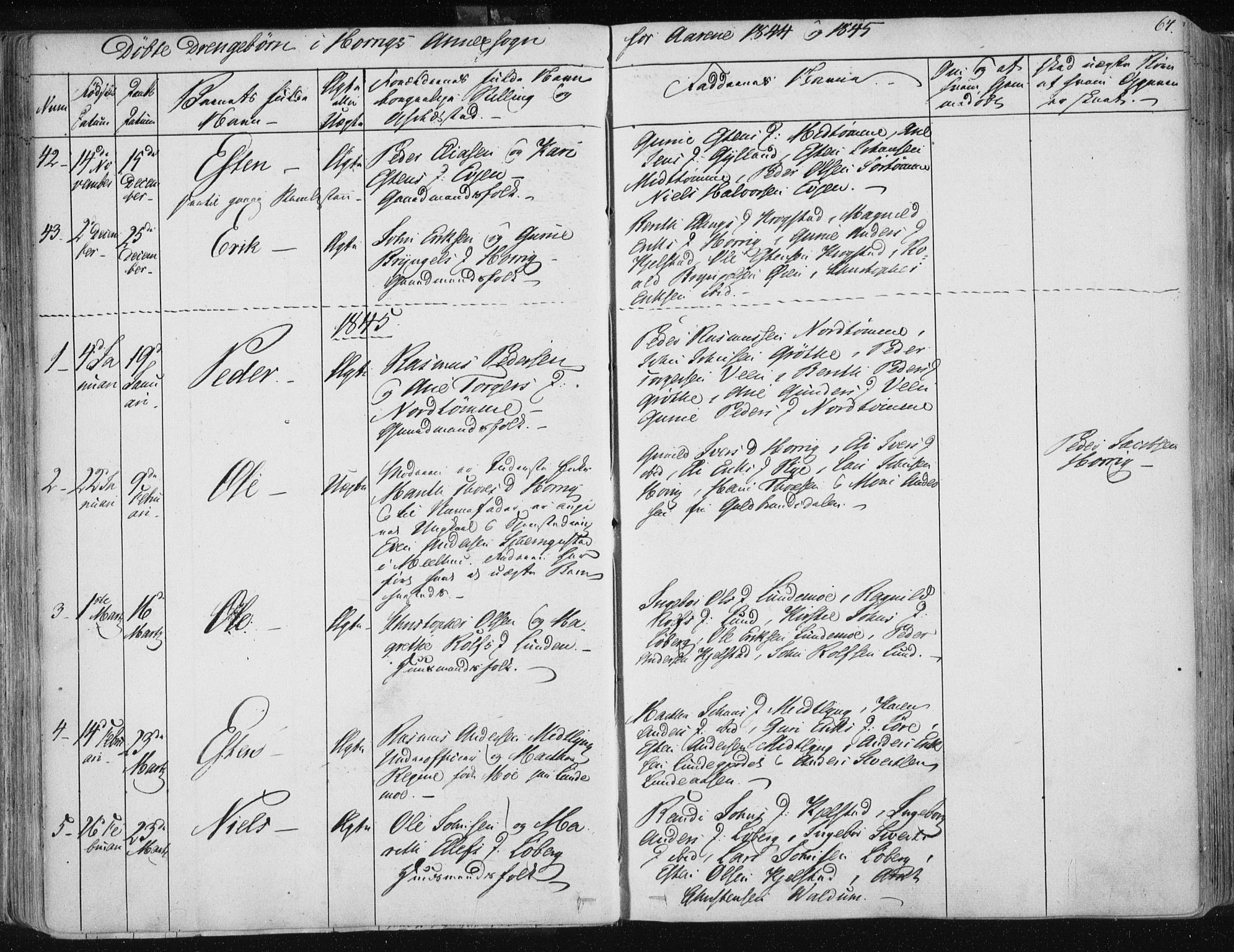 SAT, Ministerialprotokoller, klokkerbøker og fødselsregistre - Sør-Trøndelag, 687/L0998: Ministerialbok nr. 687A05 /2, 1843-1849, s. 64