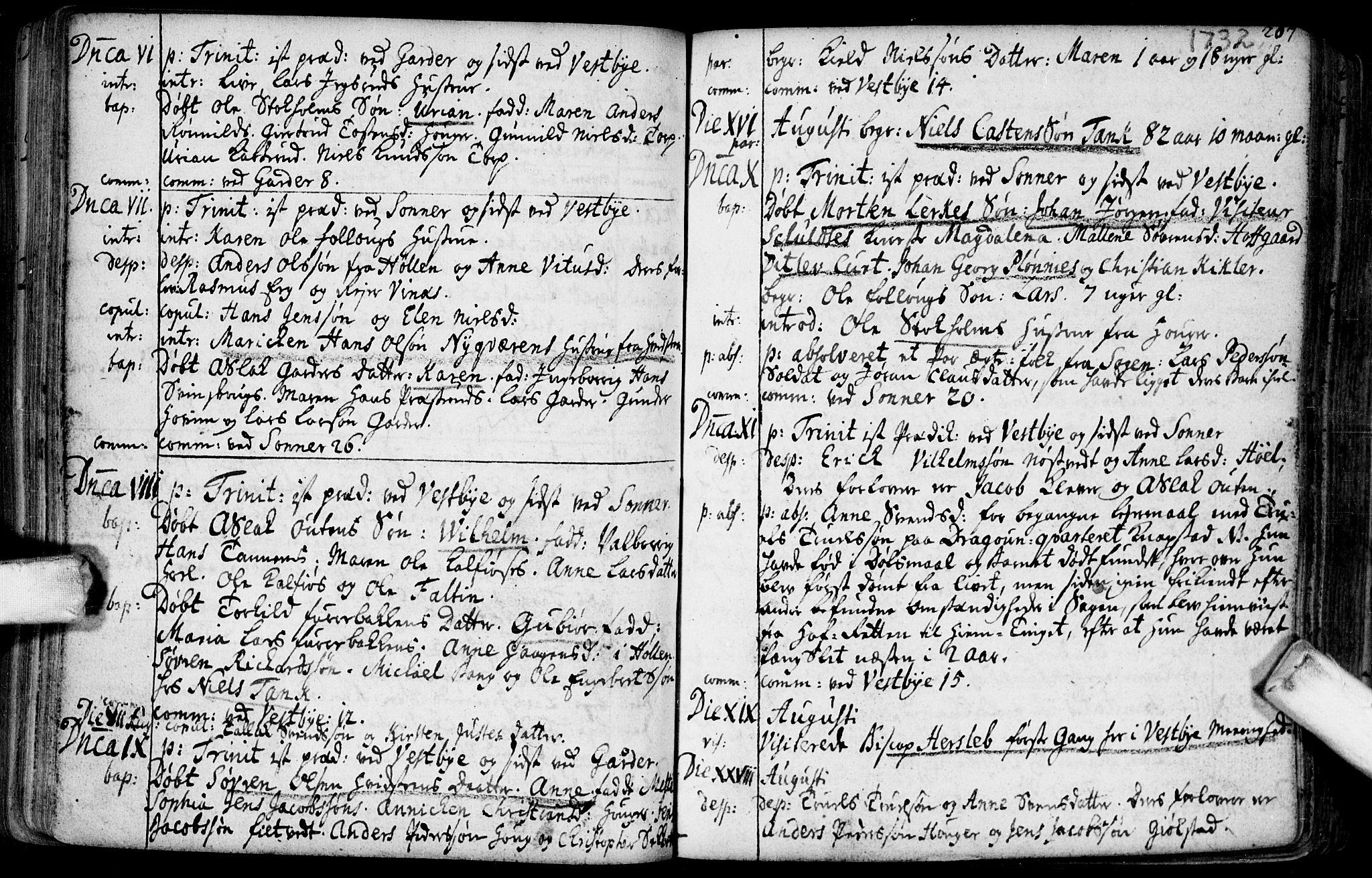 SAO, Vestby prestekontor Kirkebøker, F/Fa/L0001.b: Ministerialbok nr. I 1B, 1714-1759, s. 207