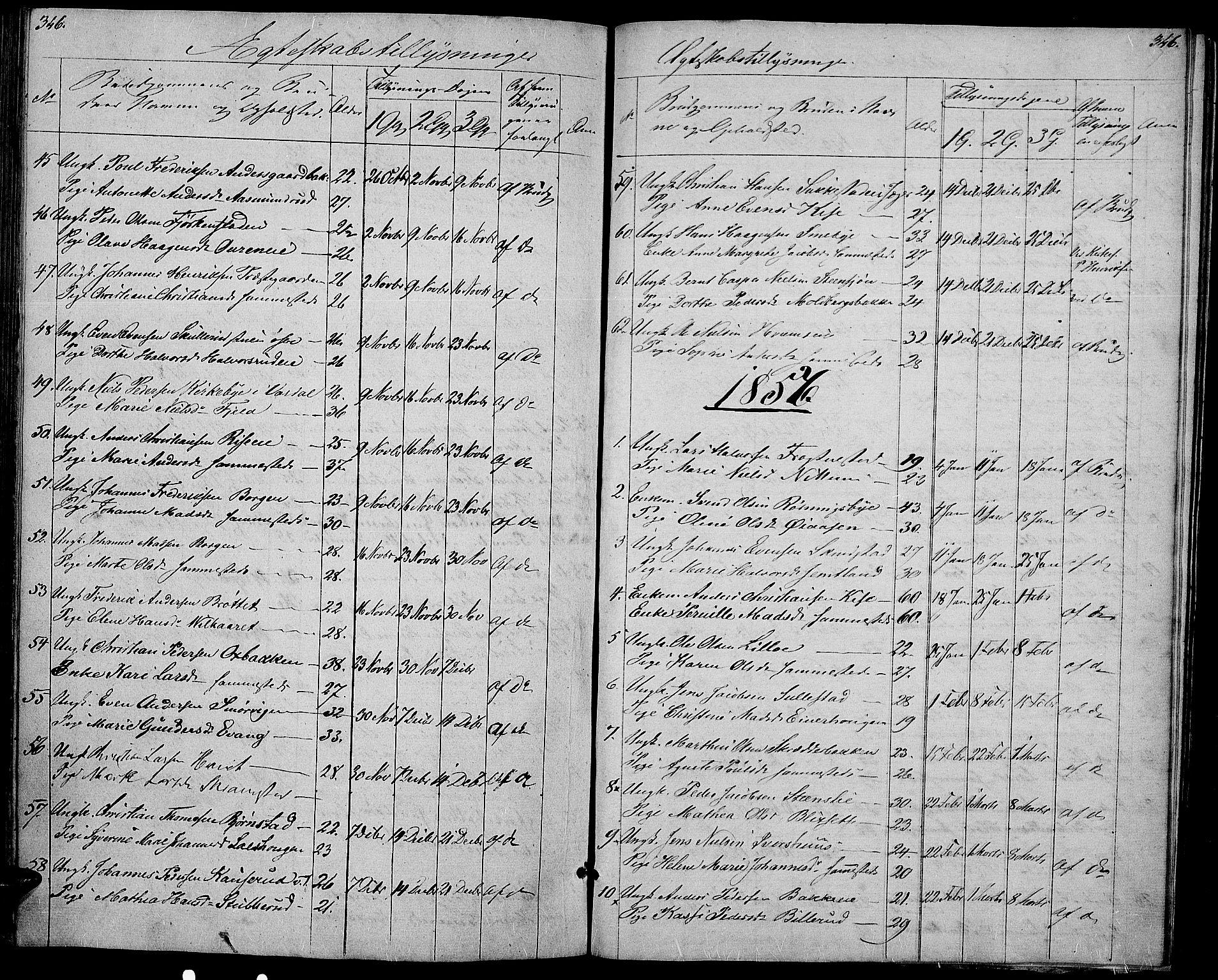 SAH, Østre Toten prestekontor, Klokkerbok nr. 3, 1848-1857, s. 346
