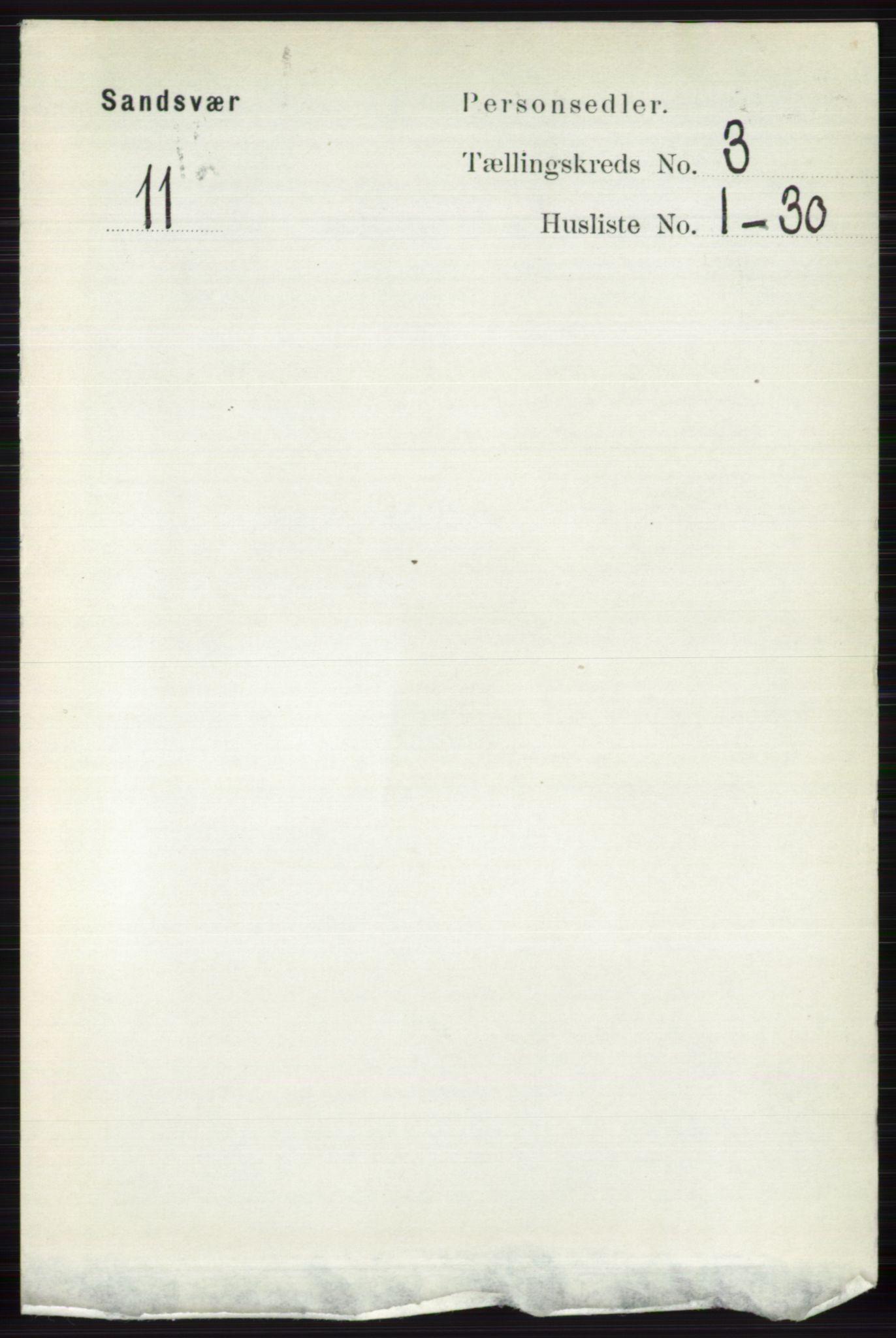 RA, Folketelling 1891 for 0629 Sandsvær herred, 1891, s. 1286