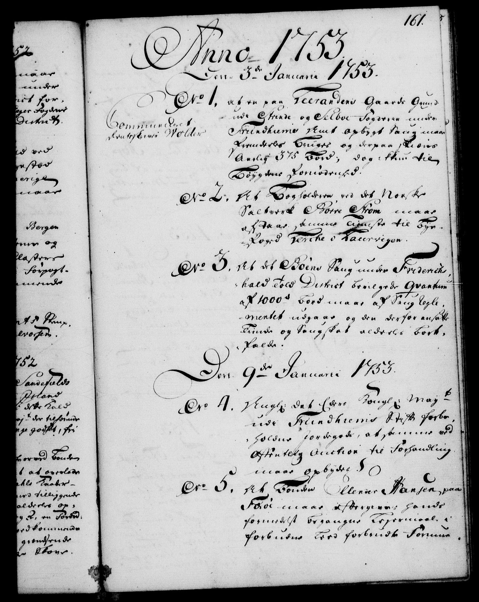 RA, Rentekammeret, Kammerkanselliet, G/Gf/Gfb/L0005: Register til norske relasjons- og resolusjonsprotokoller (merket RK 52.100), 1744-1754, s. 161