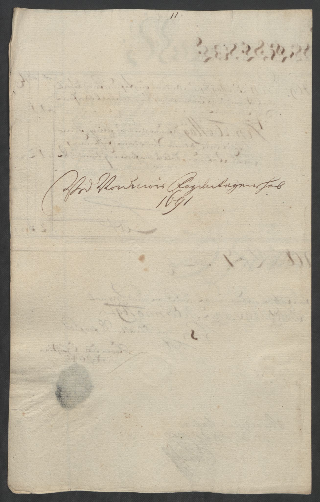 RA, Rentekammeret inntil 1814, Reviderte regnskaper, Fogderegnskap, R56/L3734: Fogderegnskap Nordmøre, 1690-1691, s. 391