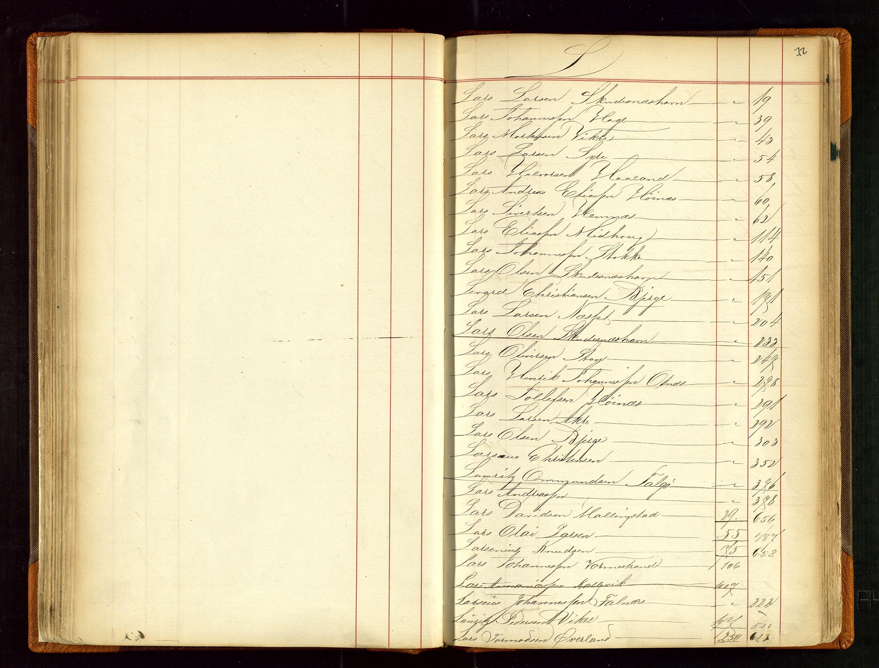 SAST, Haugesund sjømannskontor, F/Fb/Fba/L0001: Navneregister med henvisning til rullenr (Fornavn) Skudenes krets, 1860-1948, s. 72