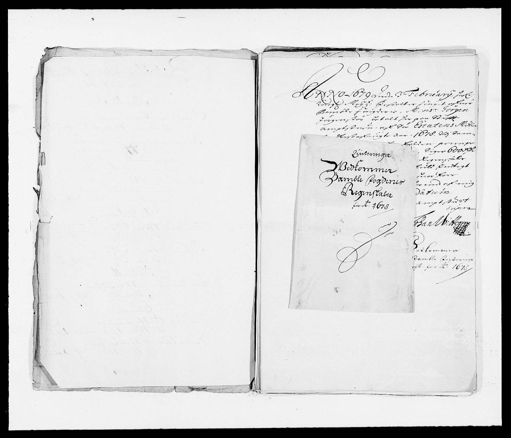 RA, Rentekammeret inntil 1814, Reviderte regnskaper, Fogderegnskap, R34/L2044: Fogderegnskap Bamble, 1678-1679, s. 220
