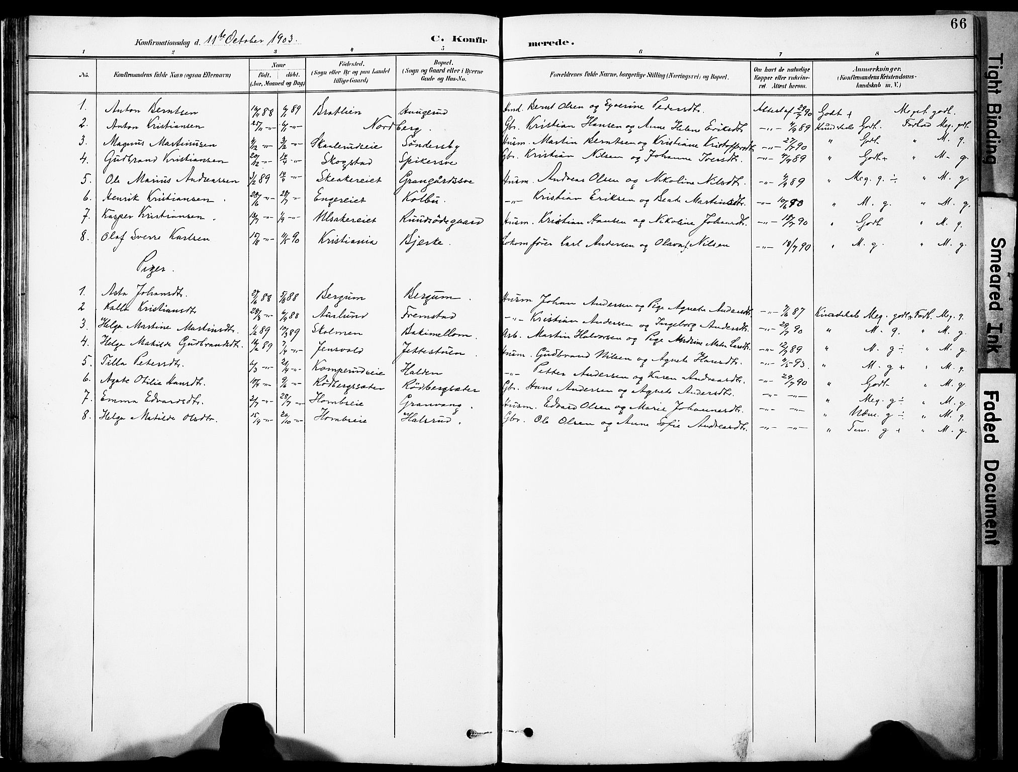 SAH, Nordre Land prestekontor, Ministerialbok nr. 6, 1897-1914, s. 66
