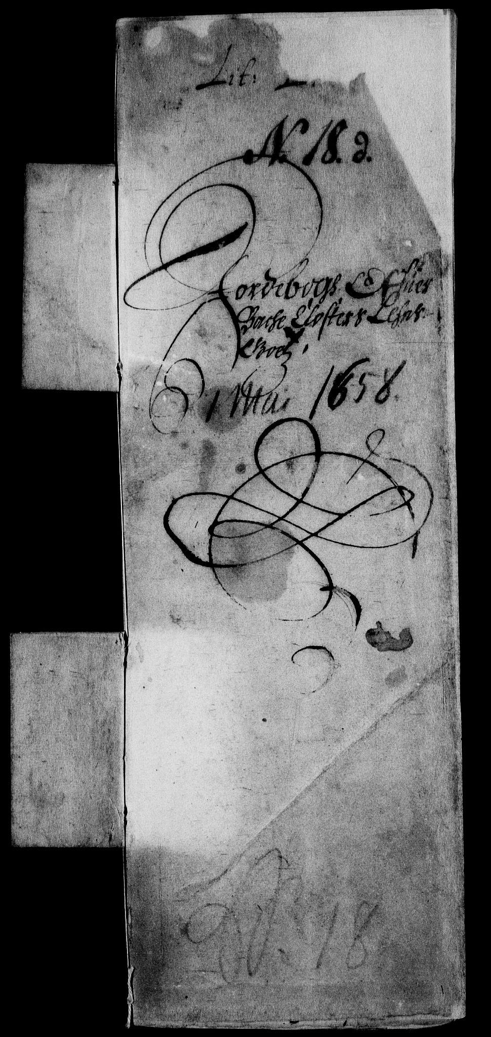RA, Rentekammeret inntil 1814, Realistisk ordnet avdeling, On/L0006: [Jj 7]: Jordebøker og dokumenter over det sekulariserte kirke- og klostergodset:, 1658-1682, s. 2