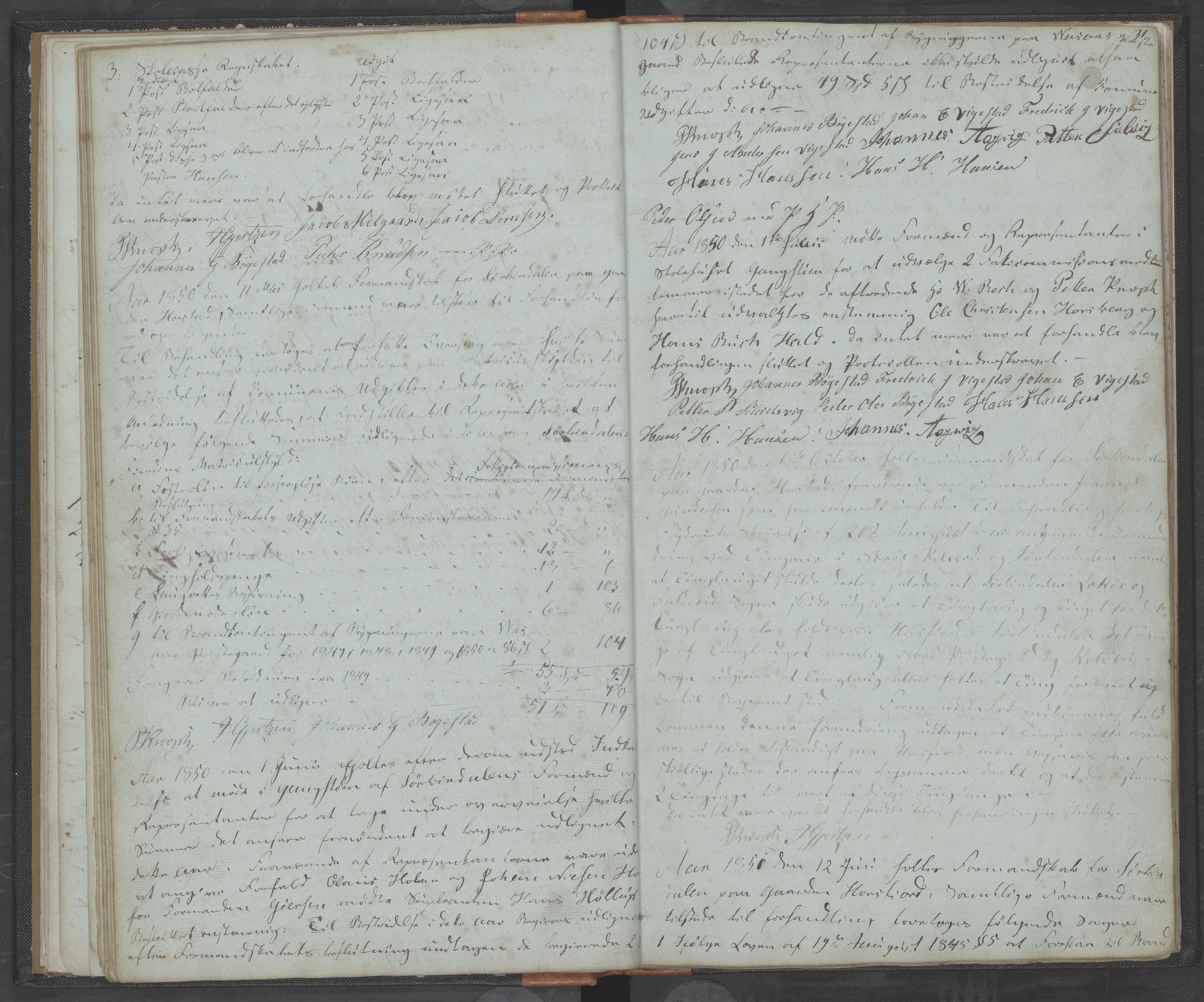 AIN, Bindal kommune. Formannskapet, A/Aa/L0000a: Møtebok, 1843-1881, s. 31