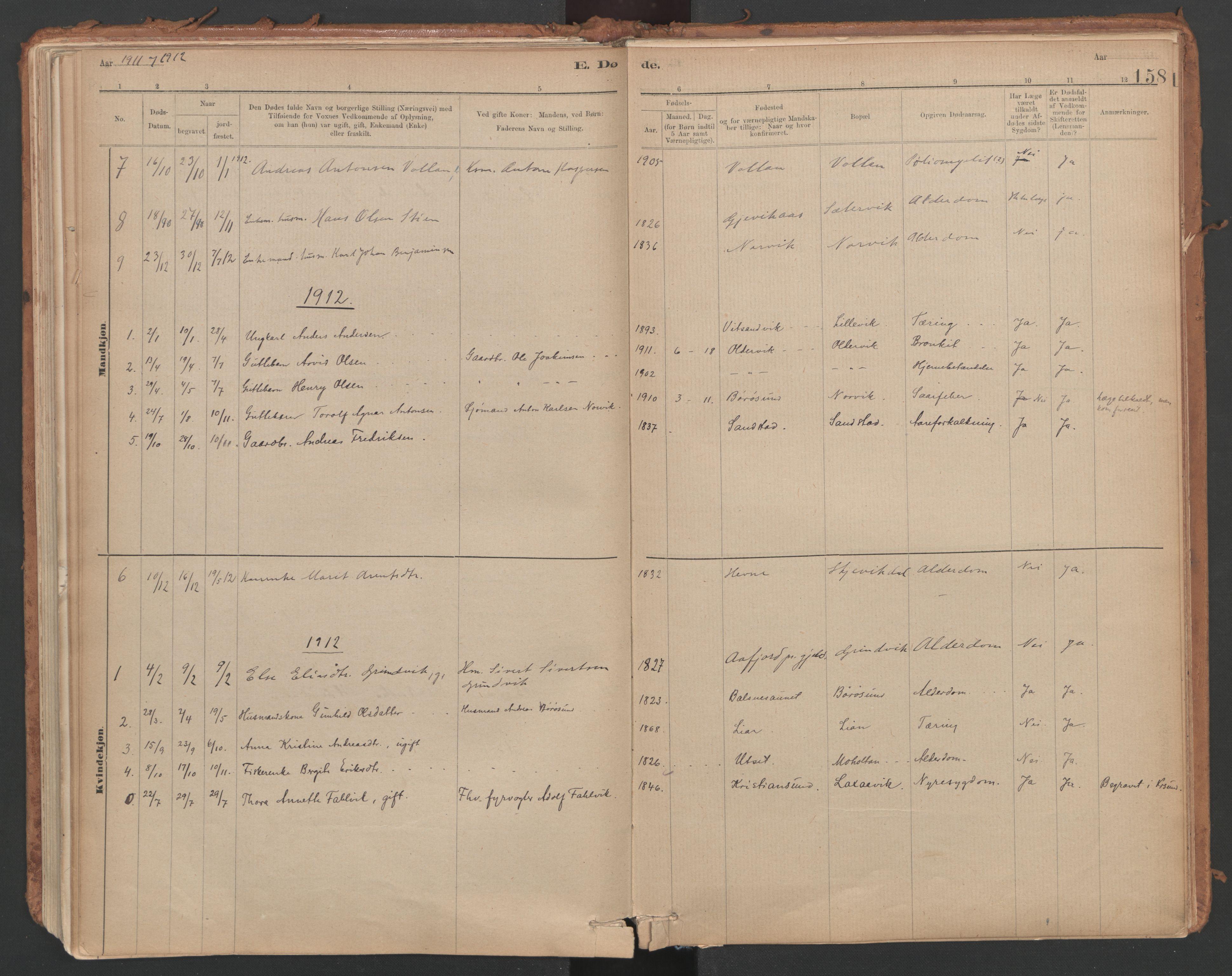 SAT, Ministerialprotokoller, klokkerbøker og fødselsregistre - Sør-Trøndelag, 639/L0572: Ministerialbok nr. 639A01, 1890-1920, s. 158