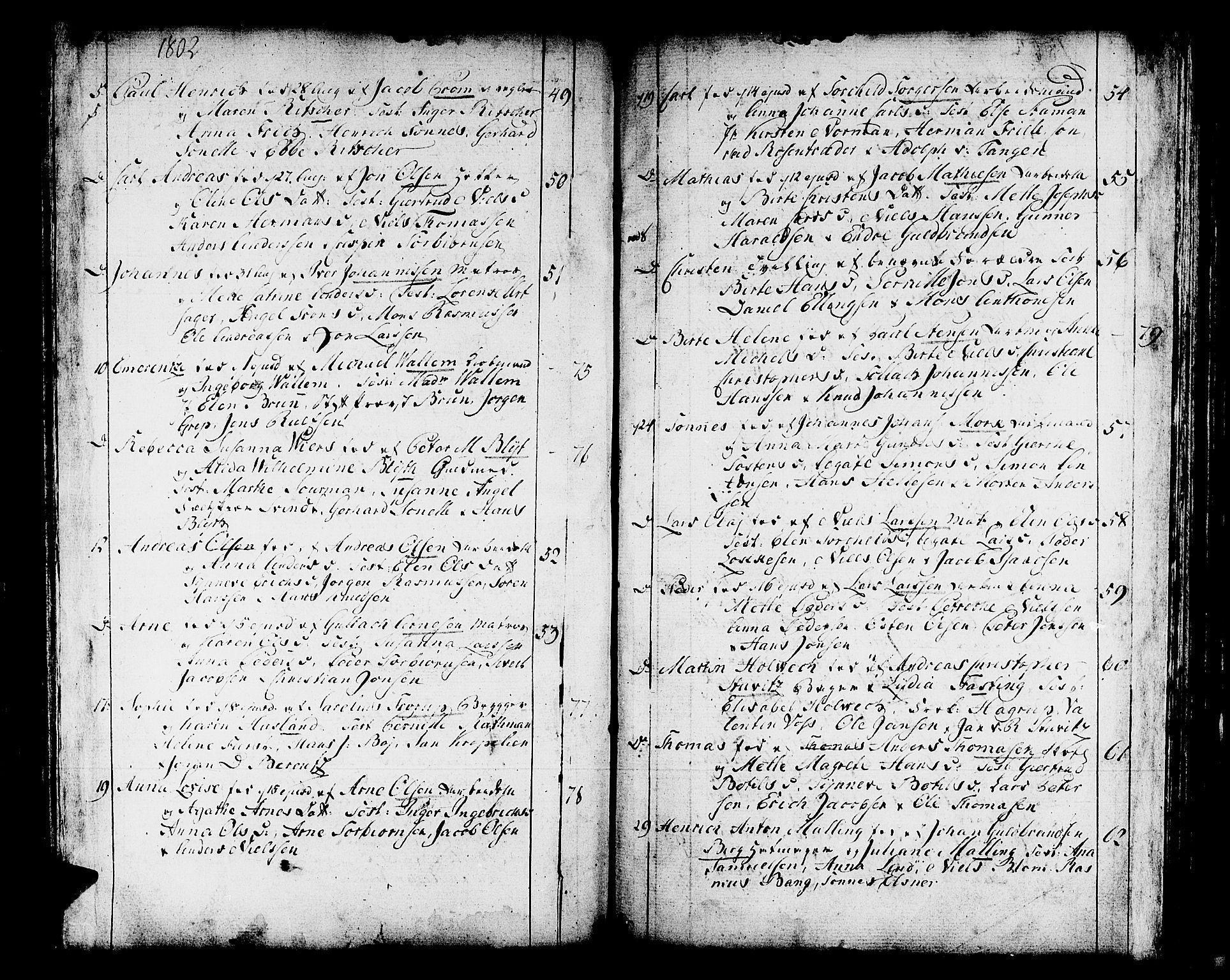 SAB, Domkirken sokneprestembete, H/Haa/L0004: Ministerialbok nr. A 4, 1763-1820, s. 282-283