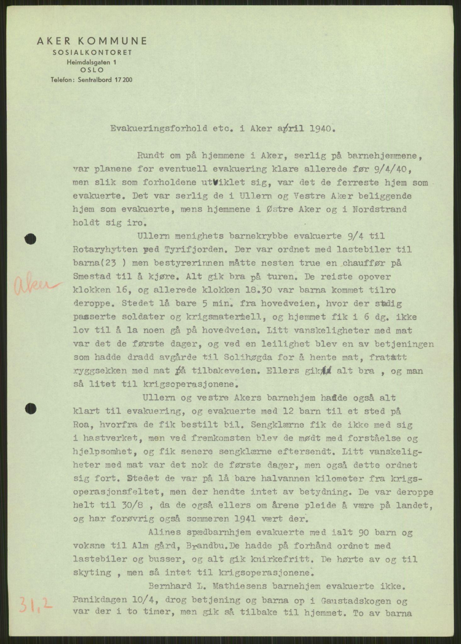RA, Forsvaret, Forsvarets krigshistoriske avdeling, Y/Ya/L0013: II-C-11-31 - Fylkesmenn.  Rapporter om krigsbegivenhetene 1940., 1940, s. 269