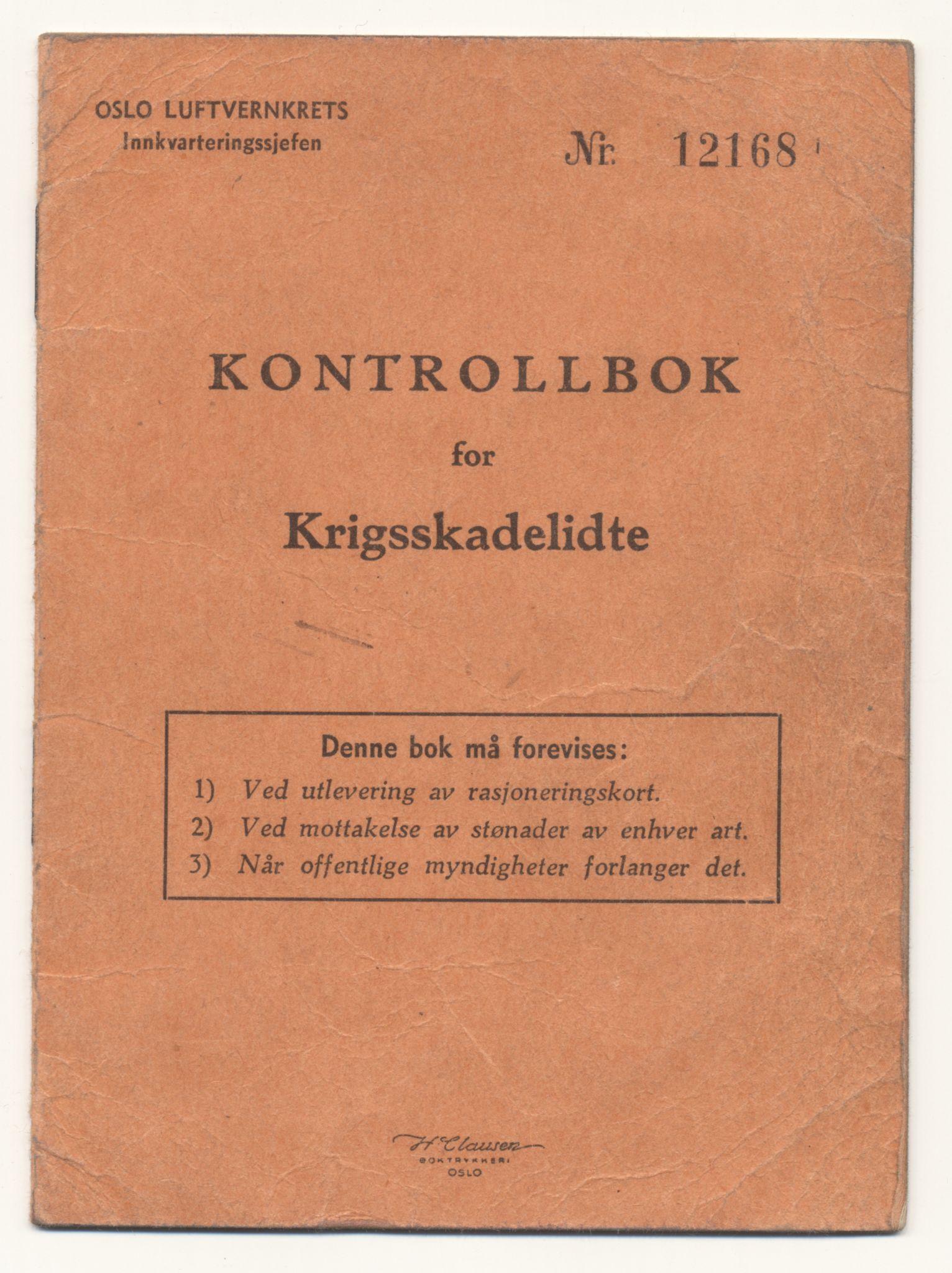FSM, Falstadsenteret, dokumentsamling, F/L0041: Moen, Ivar L. (1896), 1944-1945