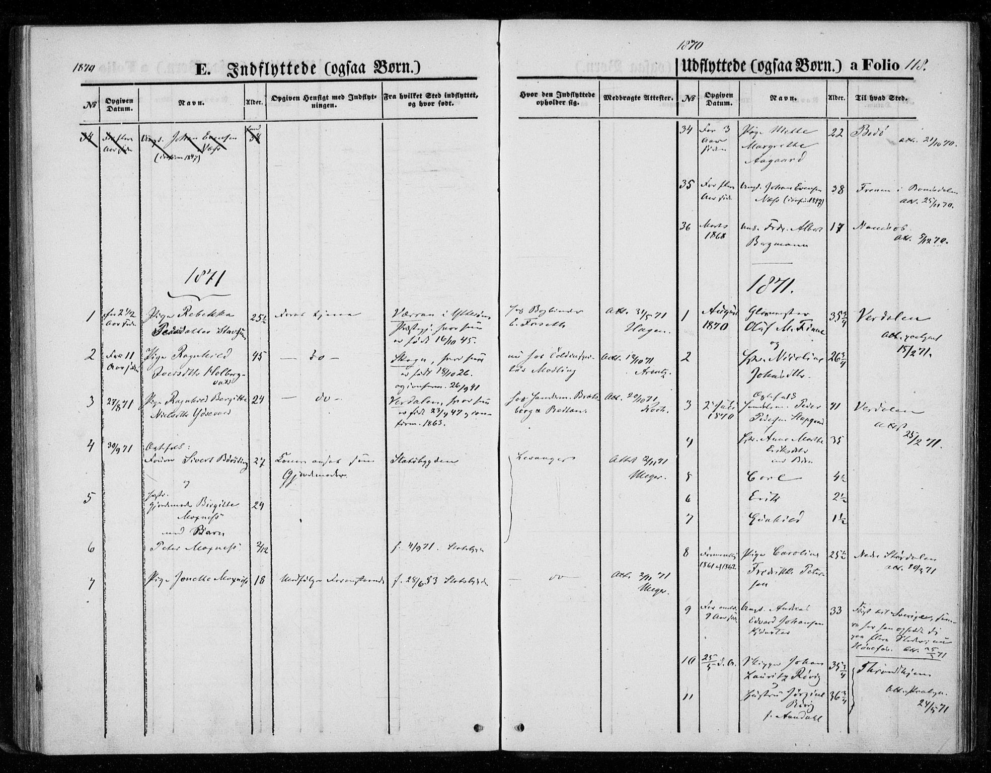 SAT, Ministerialprotokoller, klokkerbøker og fødselsregistre - Nord-Trøndelag, 720/L0186: Ministerialbok nr. 720A03, 1864-1874, s. 118