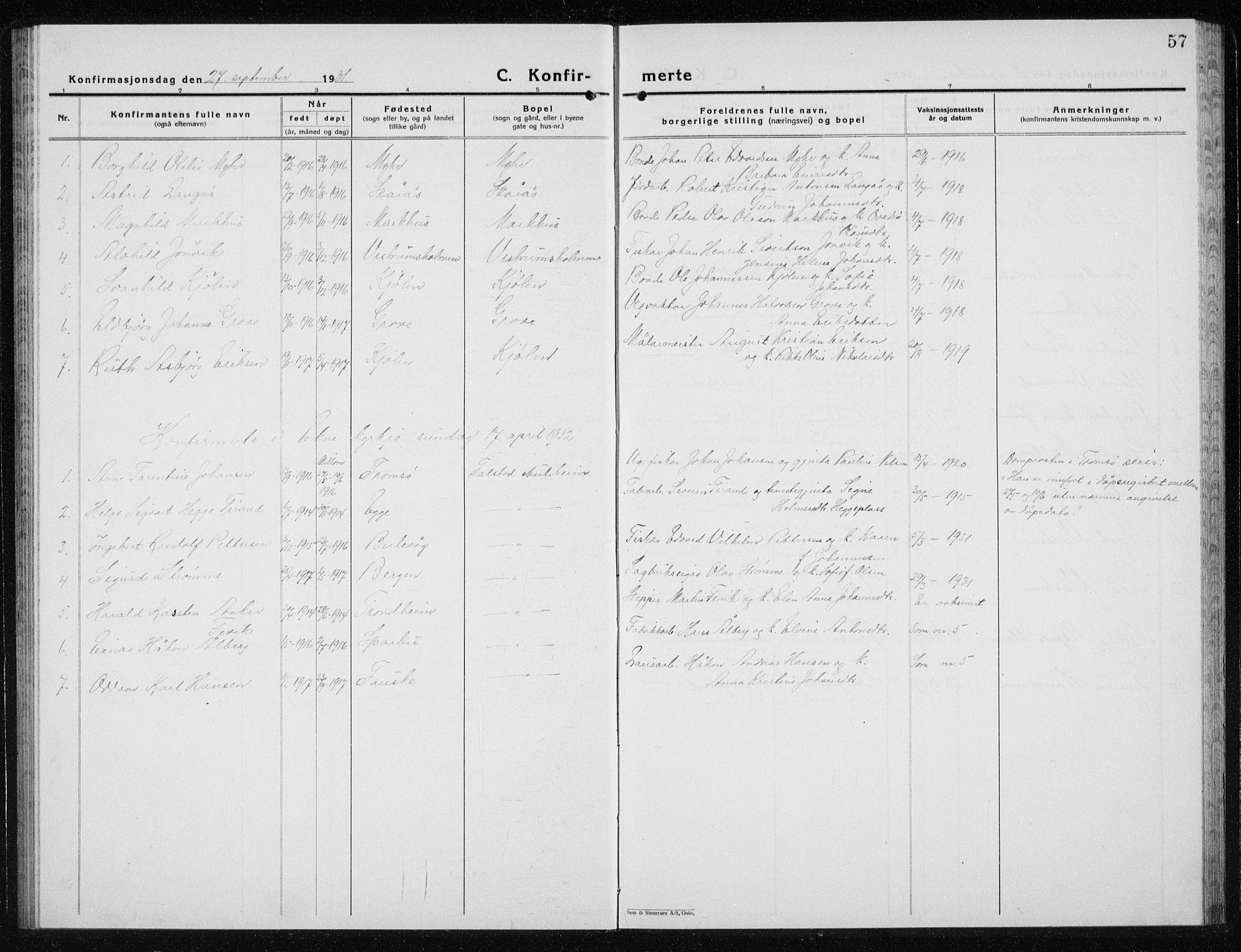 SAT, Ministerialprotokoller, klokkerbøker og fødselsregistre - Nord-Trøndelag, 719/L0180: Klokkerbok nr. 719C01, 1878-1940, s. 57