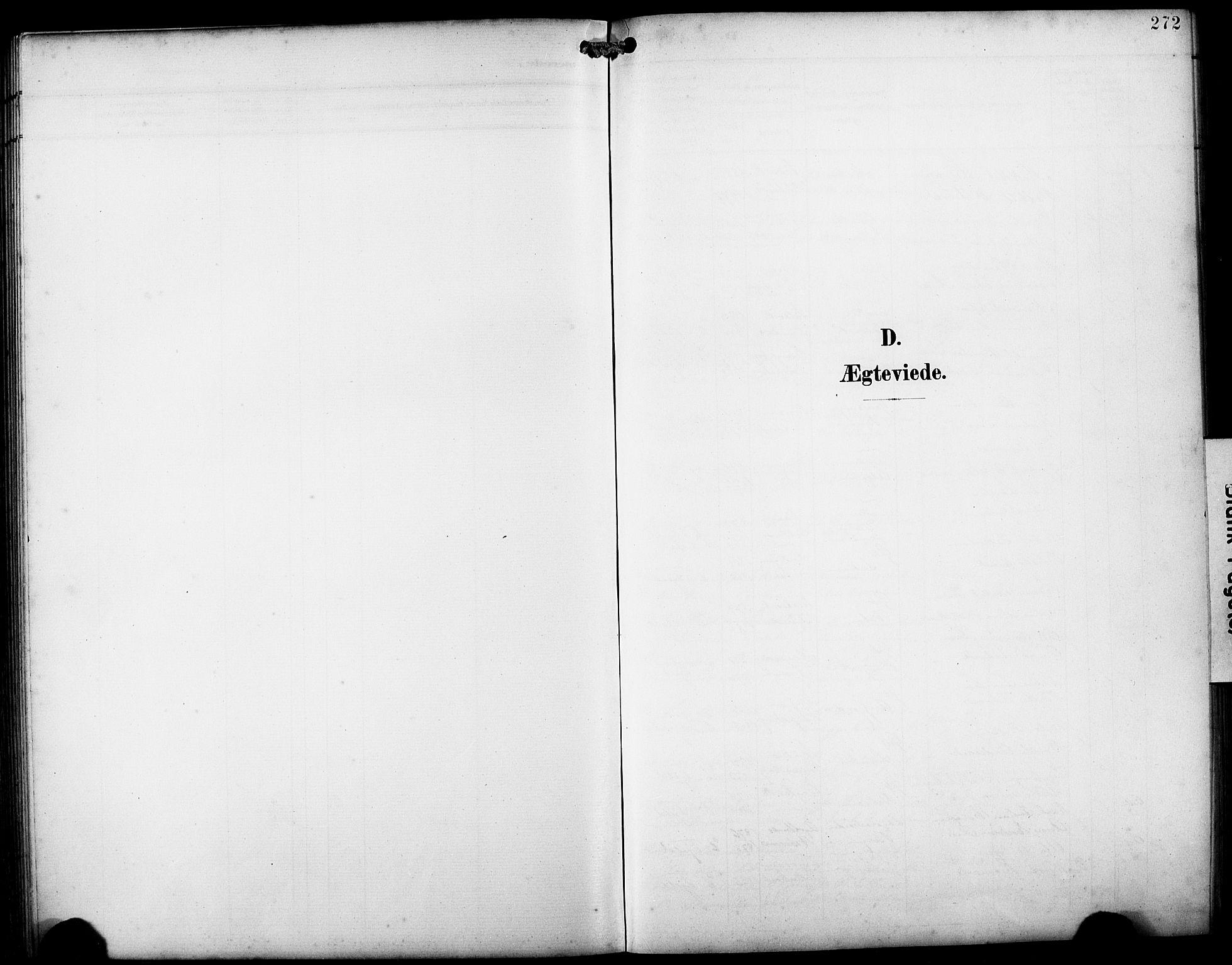 SAB, Fjell sokneprestembete, H/Hab: Klokkerbok nr. A 5, 1899-1918, s. 272