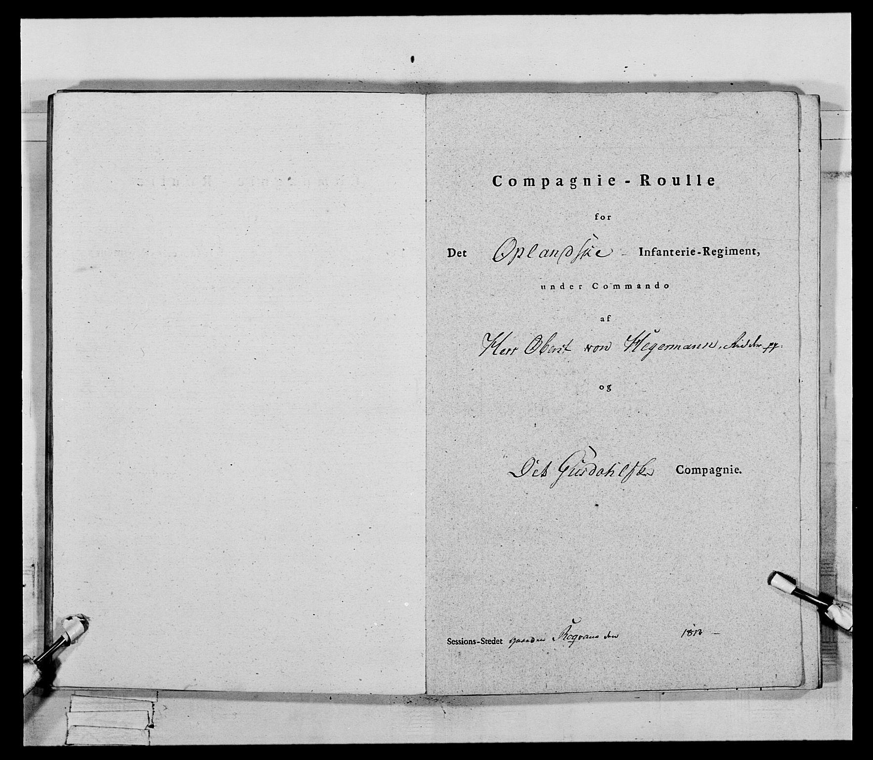 RA, Generalitets- og kommissariatskollegiet, Det kongelige norske kommissariatskollegium, E/Eh/L0069: Opplandske gevorbne infanteriregiment, 1810-1818, s. 515