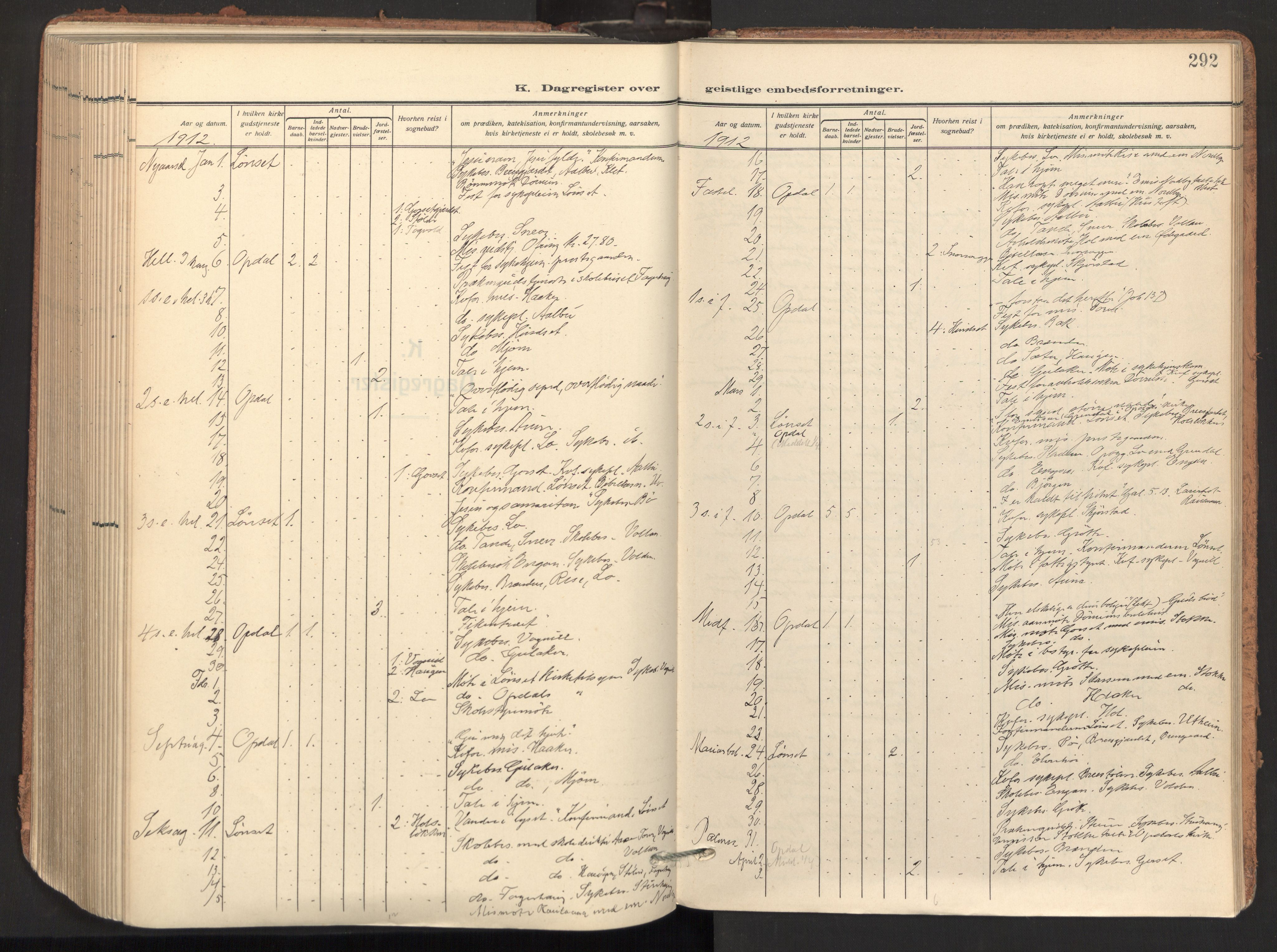 SAT, Ministerialprotokoller, klokkerbøker og fødselsregistre - Sør-Trøndelag, 678/L0909: Ministerialbok nr. 678A17, 1912-1930, s. 292