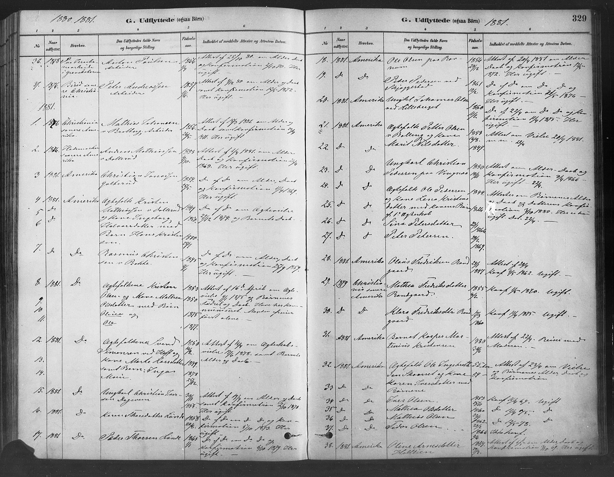 SAH, Fåberg prestekontor, Ministerialbok nr. 9, 1879-1898, s. 329