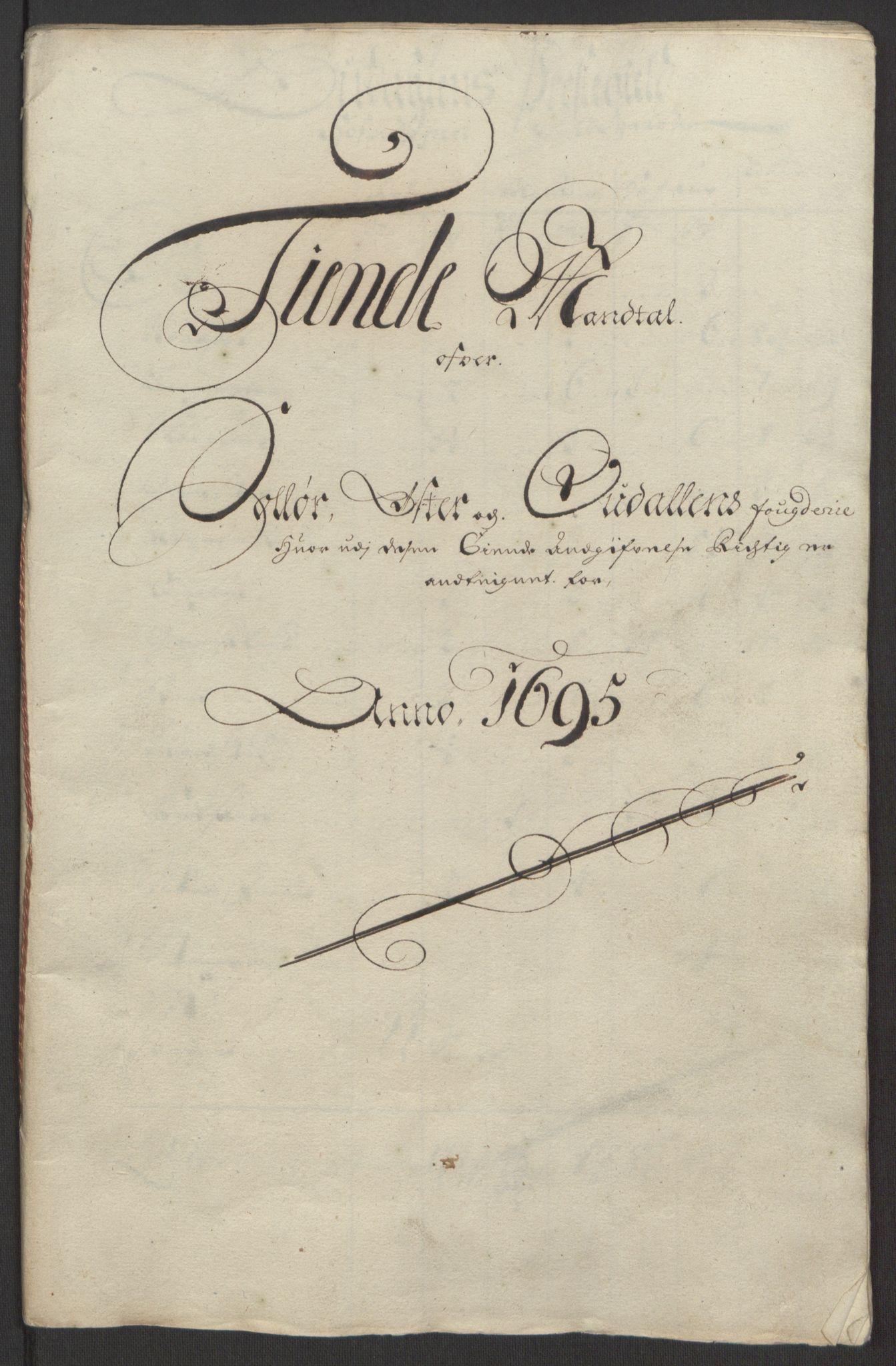 RA, Rentekammeret inntil 1814, Reviderte regnskaper, Fogderegnskap, R13/L0833: Fogderegnskap Solør, Odal og Østerdal, 1695, s. 202