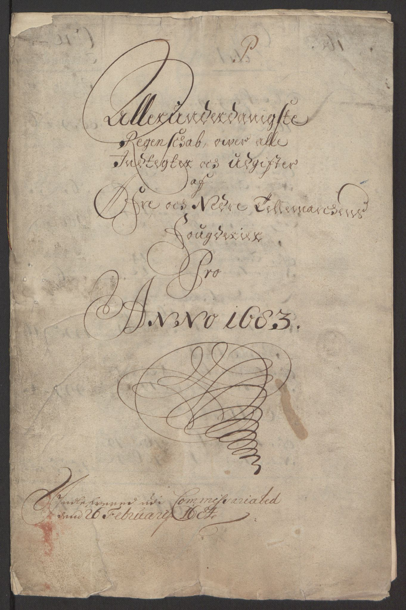 RA, Rentekammeret inntil 1814, Reviderte regnskaper, Fogderegnskap, R35/L2080: Fogderegnskap Øvre og Nedre Telemark, 1680-1684, s. 3
