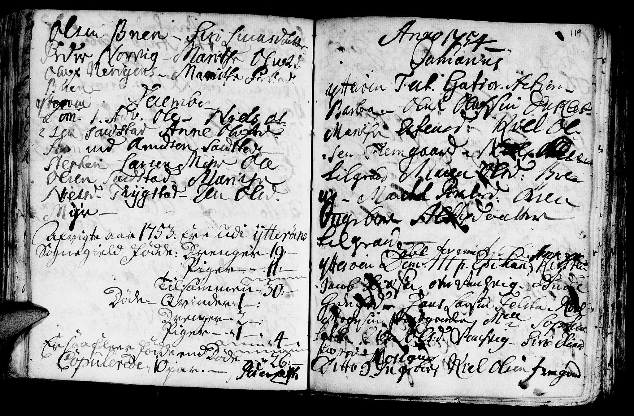 SAT, Ministerialprotokoller, klokkerbøker og fødselsregistre - Nord-Trøndelag, 722/L0215: Ministerialbok nr. 722A02, 1718-1755, s. 119