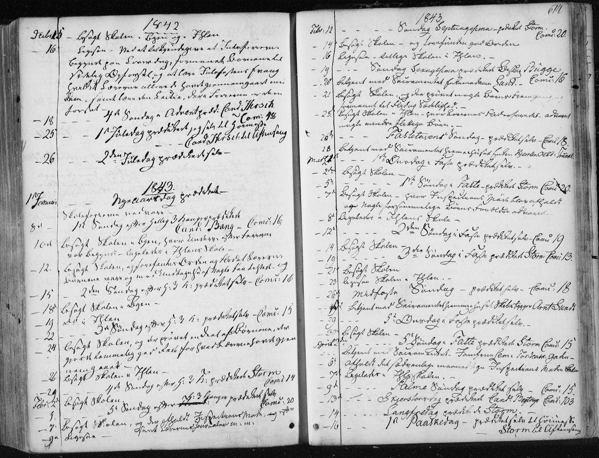 SAT, Ministerialprotokoller, klokkerbøker og fødselsregistre - Sør-Trøndelag, 601/L0049: Ministerialbok nr. 601A17, 1839-1847, s. 614