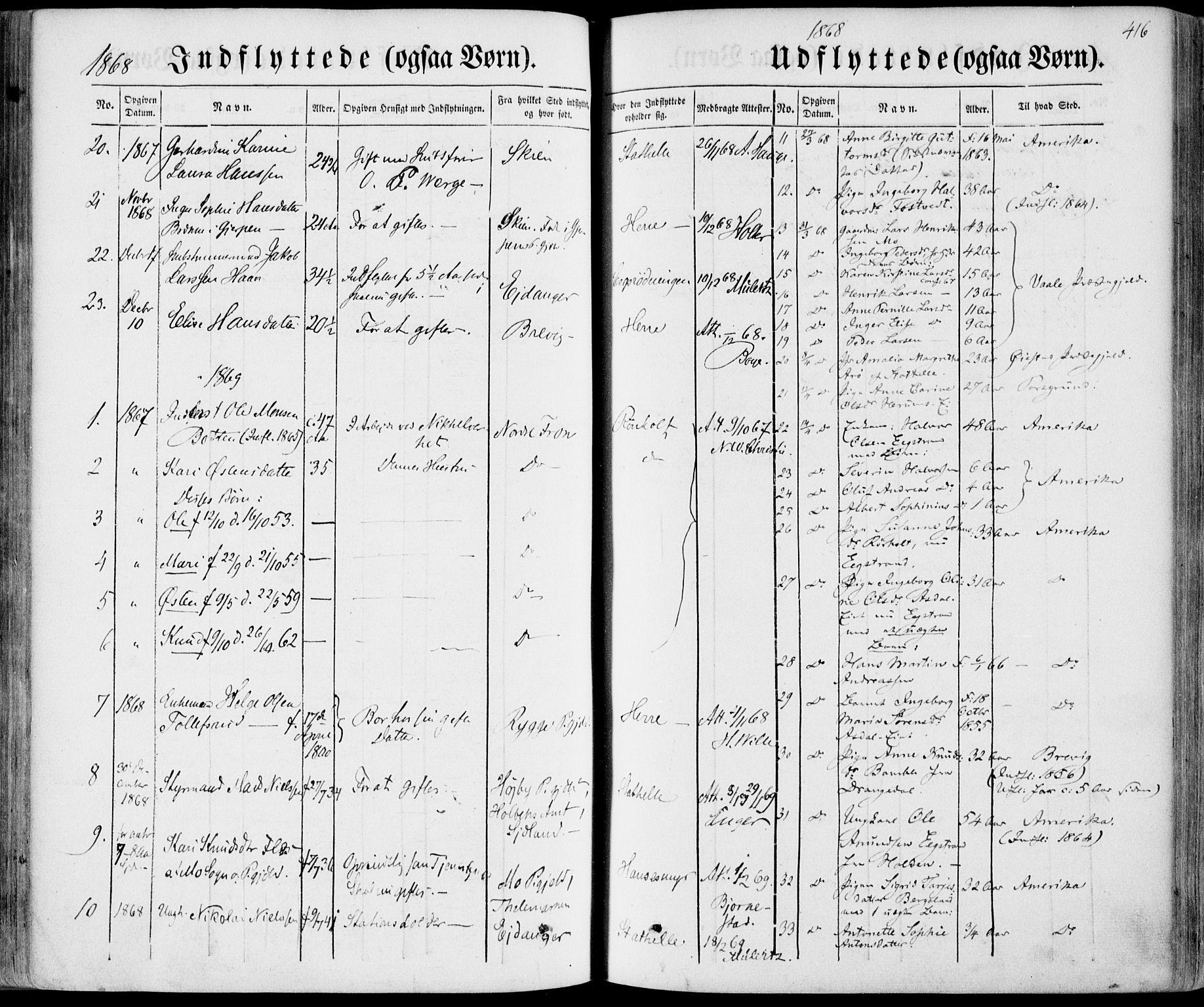SAKO, Bamble kirkebøker, F/Fa/L0005: Ministerialbok nr. I 5, 1854-1869, s. 416