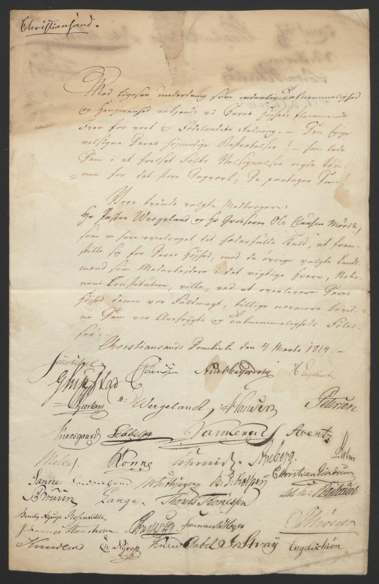 RA, Statsrådssekretariatet, D/Db/L0007: Fullmakter for Eidsvollsrepresentantene i 1814. , 1814, s. 57