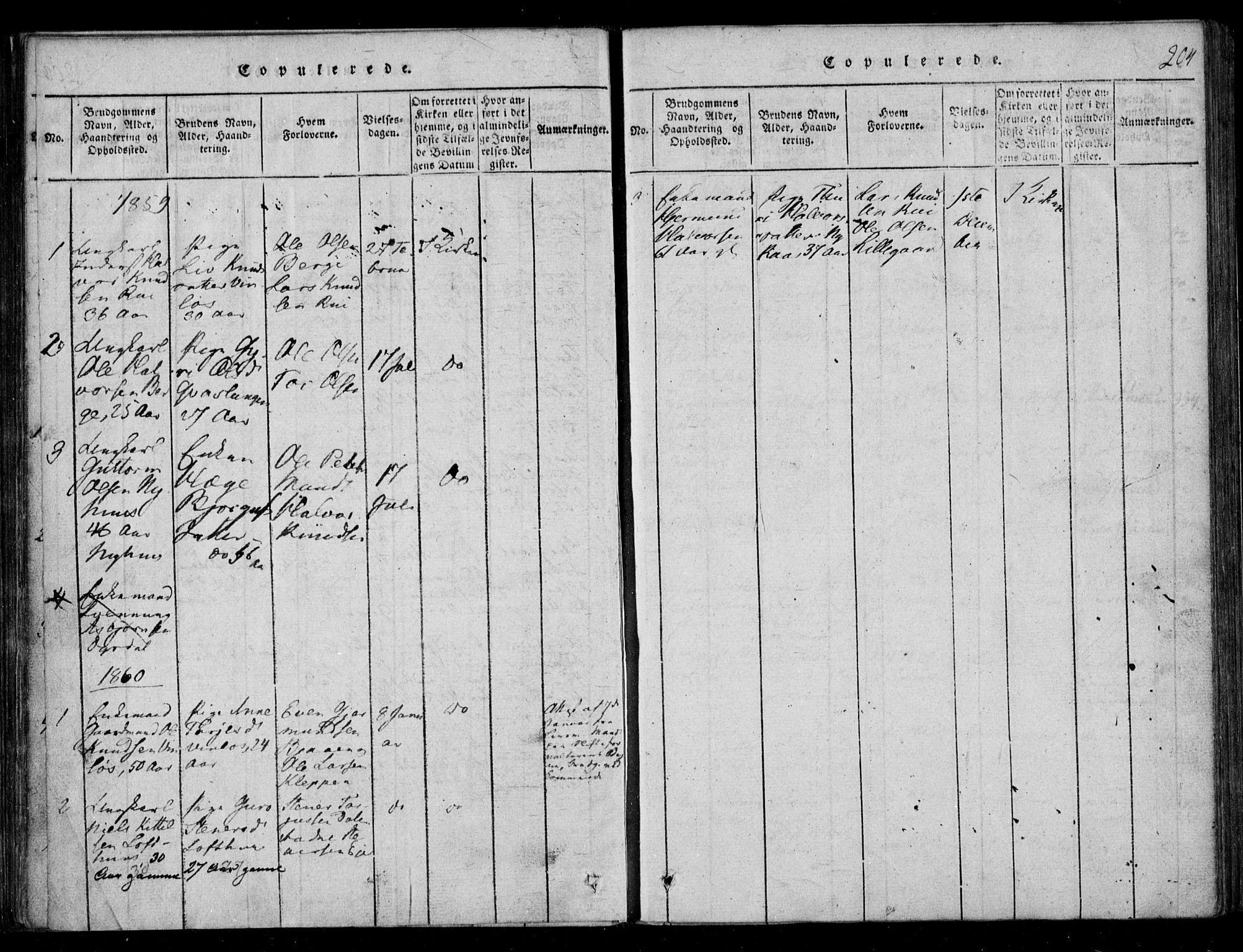 SAKO, Lårdal kirkebøker, F/Fb/L0001: Ministerialbok nr. II 1, 1815-1860, s. 204